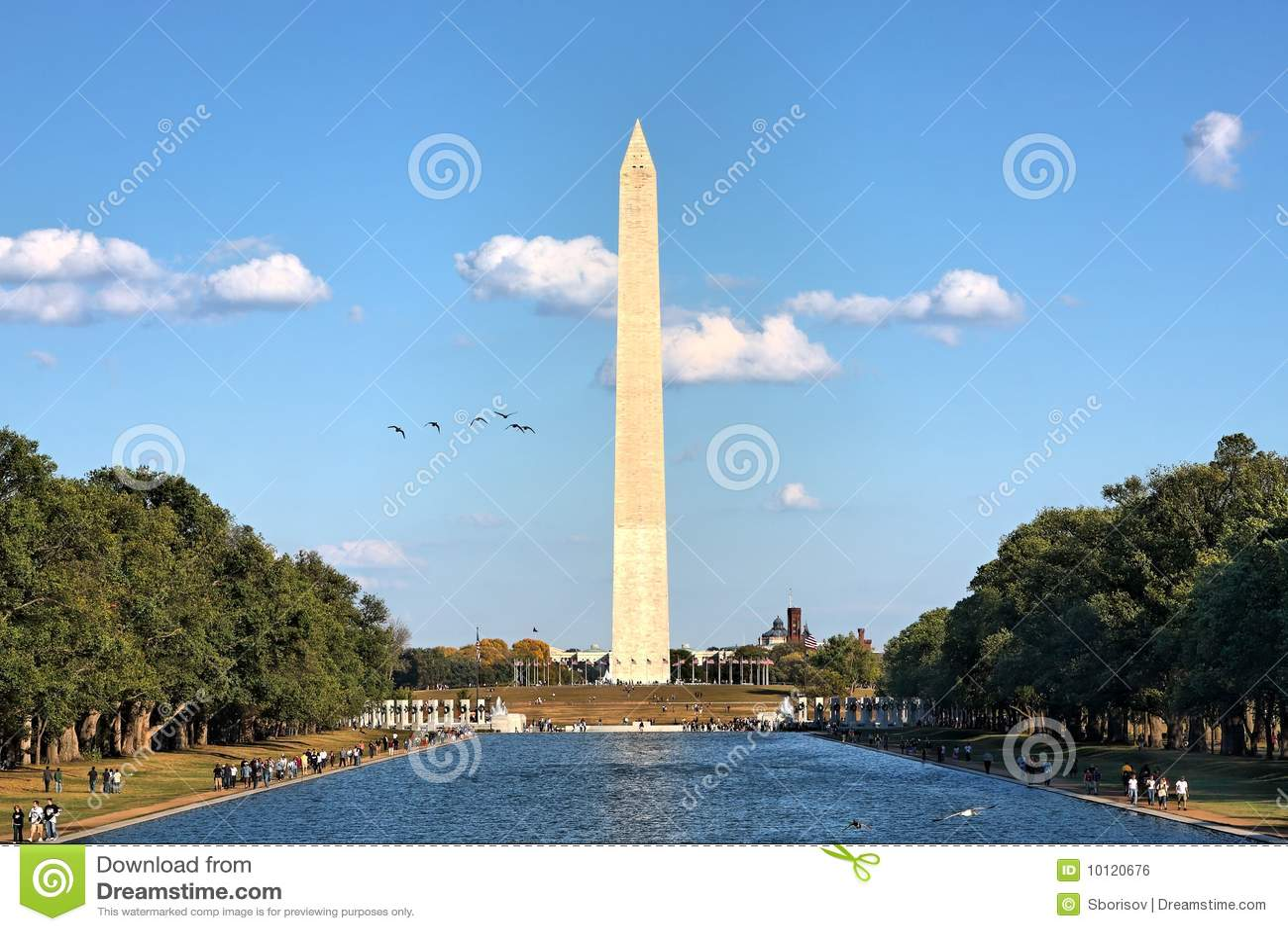 Washington Monument Stock Photo Image Of District Blue