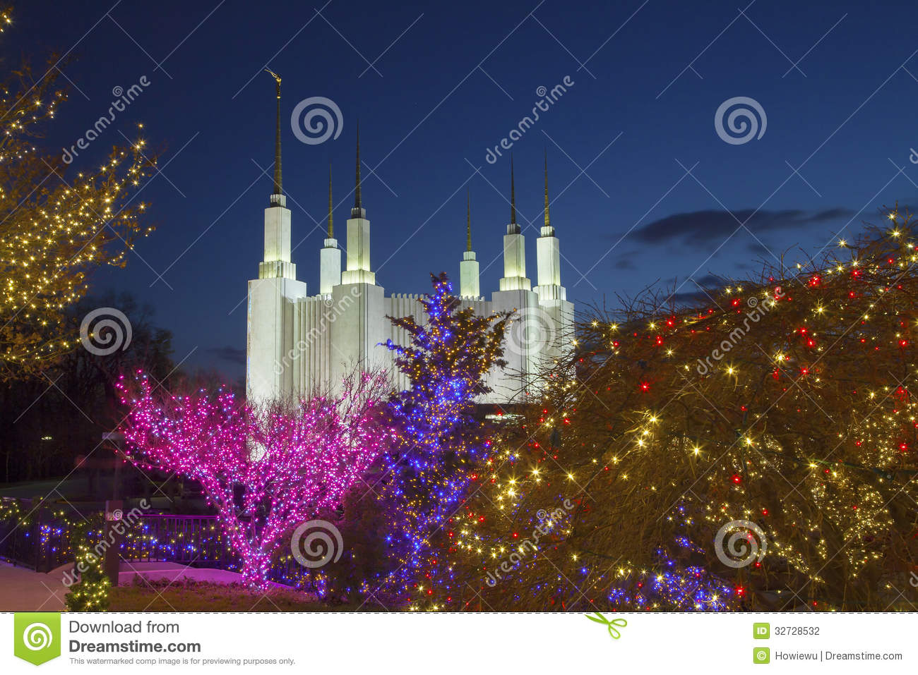 royalty free stock photo download washington mormon temple with christmas lights - Christmas Lights Maryland