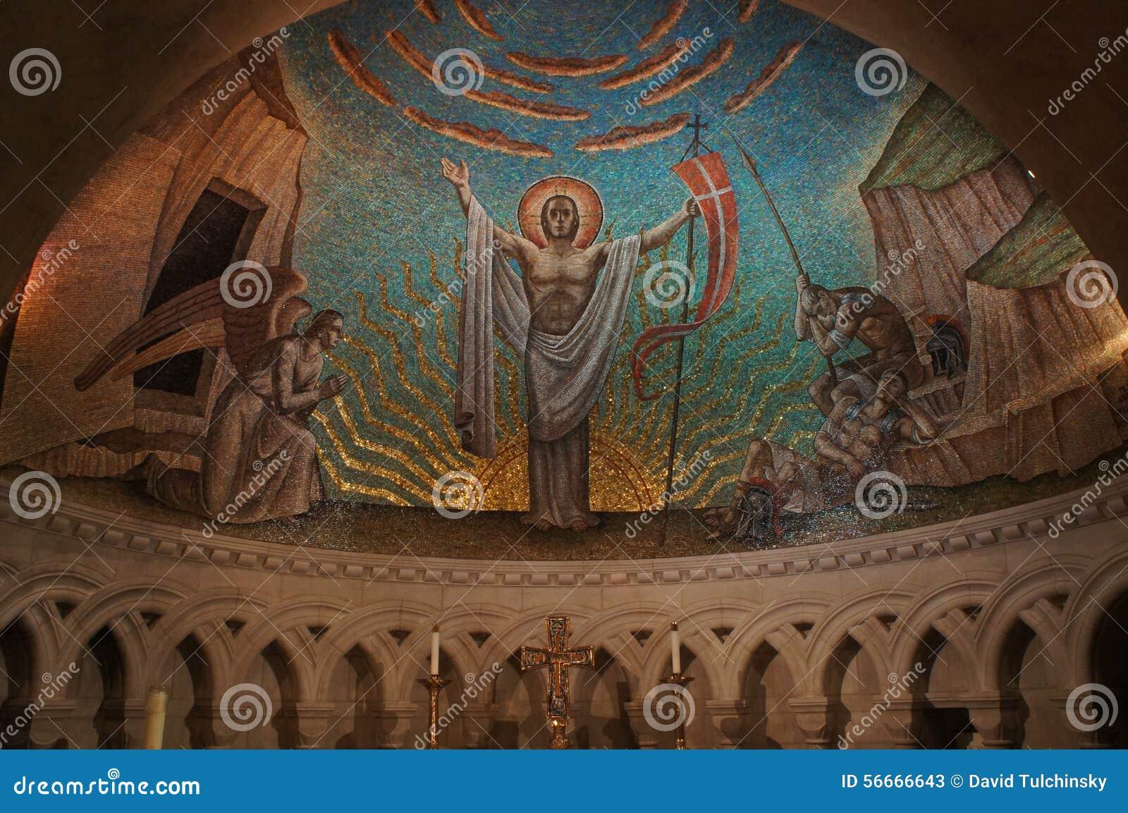 Washington National Cathedral - målad kupol