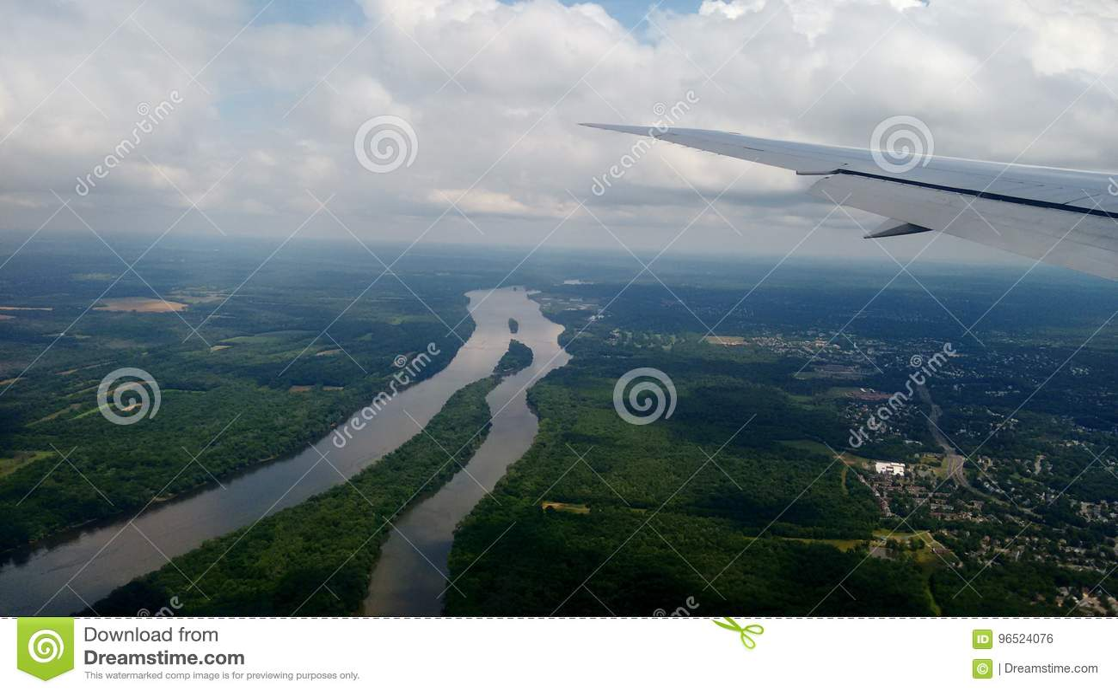 Washington from the plane