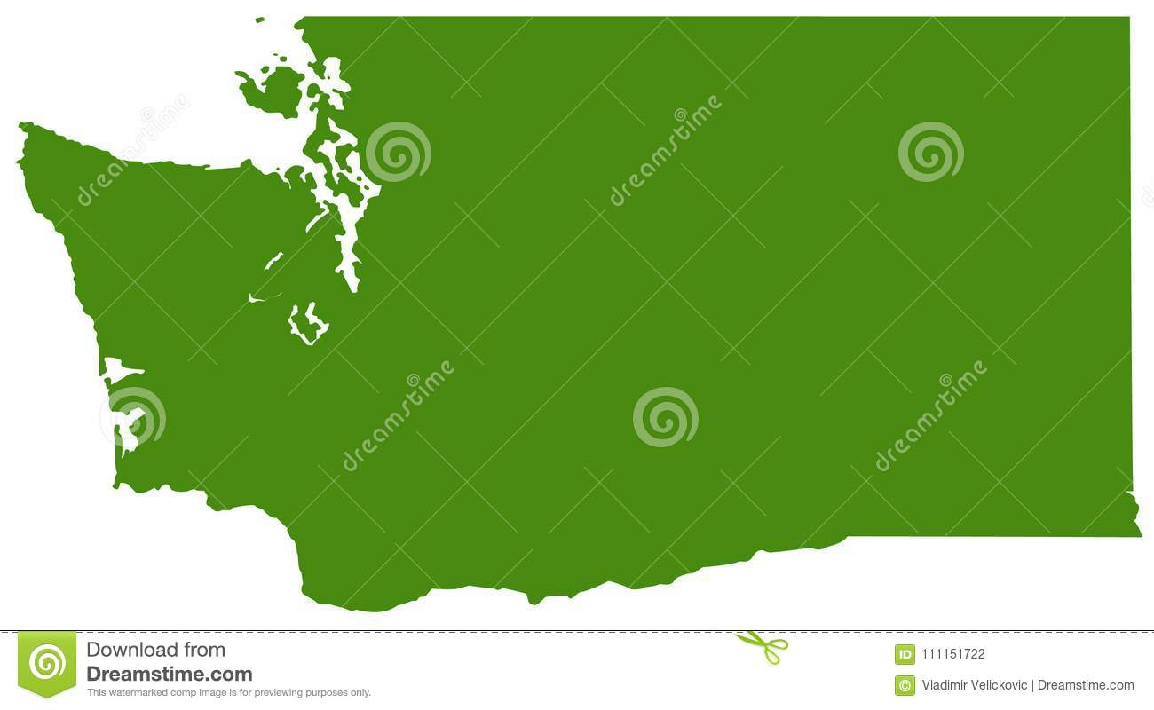 royalty free vector download washington state map state in the pacific northwest region of the united states stock