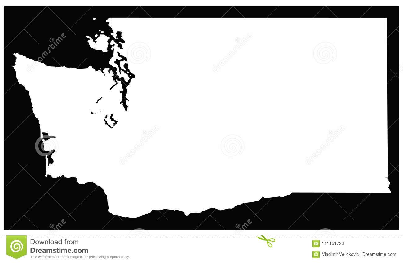Washington State Map - State In The Pacific Northwest Region Of The ...