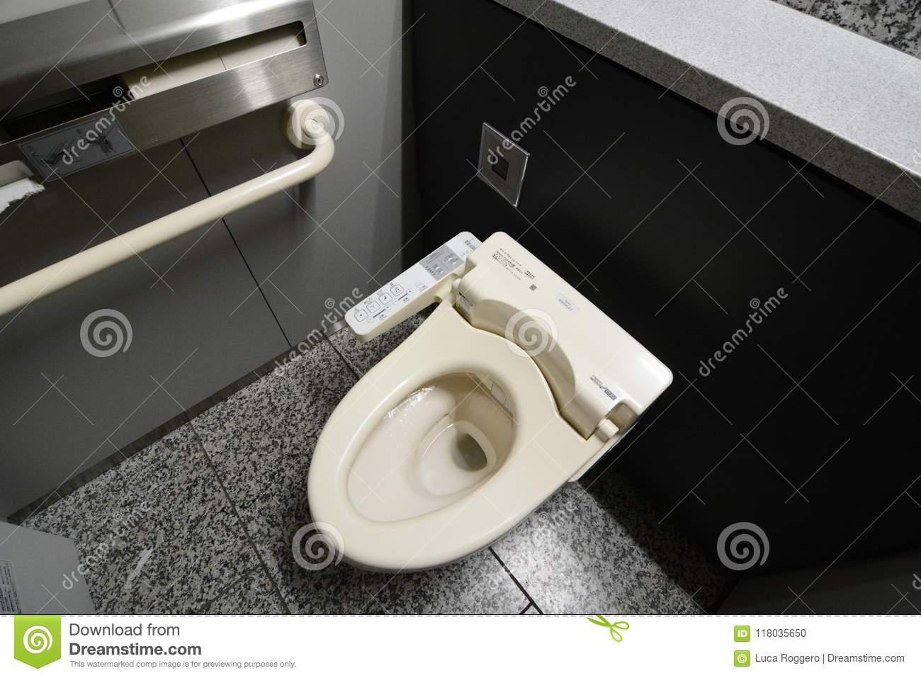 Washlet In A Public Toilet. Tokyo. Japan Editorial Image - Image of ...