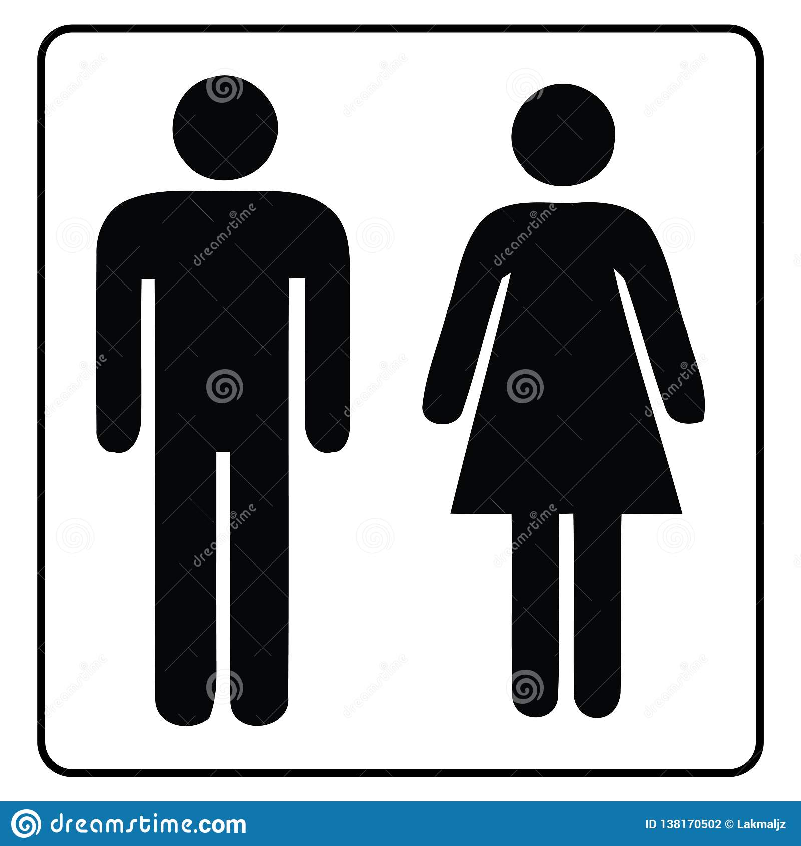 Washroom σημάδι-αρσενικό και θηλυκό