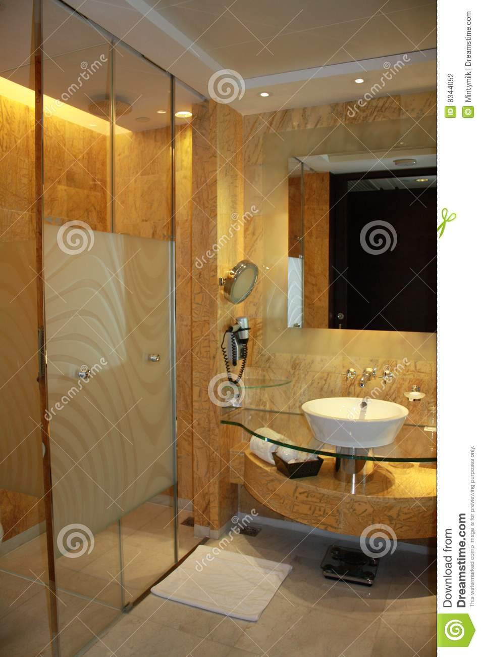 Hotel Room Photography: Washroom Of Hotel Room Stock Photography