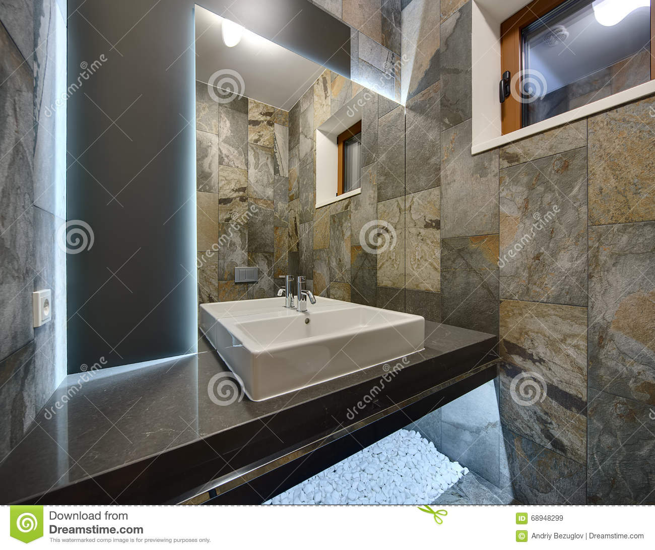Washroom in a modern style stock image image of room for Washroom style