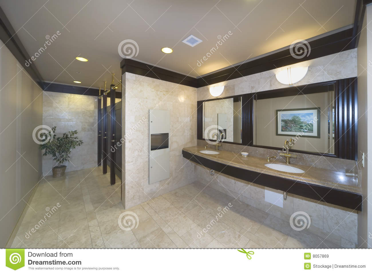 Washroom In An Office Building Royalty Free Stock Images
