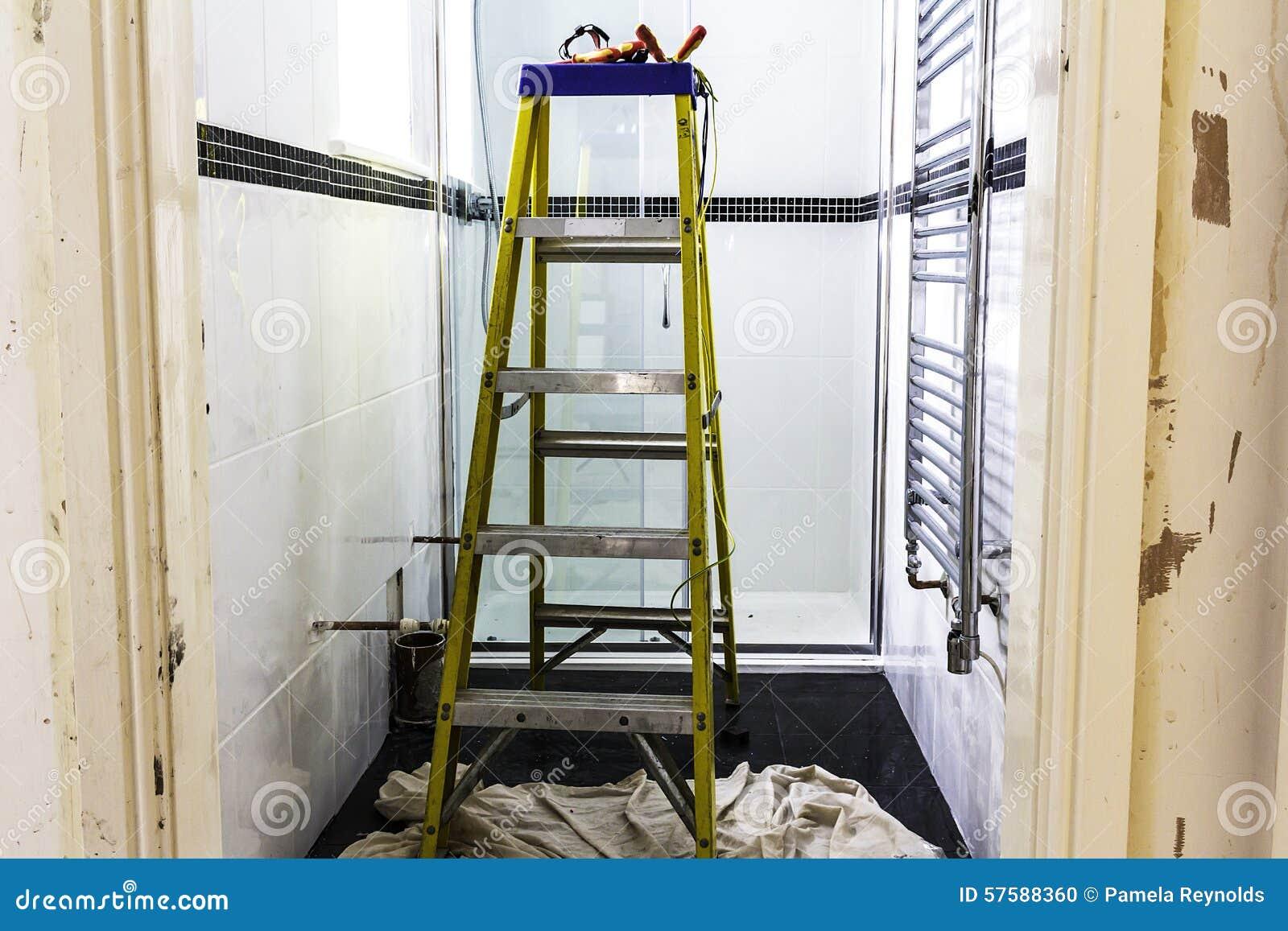 Washroom renovation stock photo image 57588360 for Washroom renovation