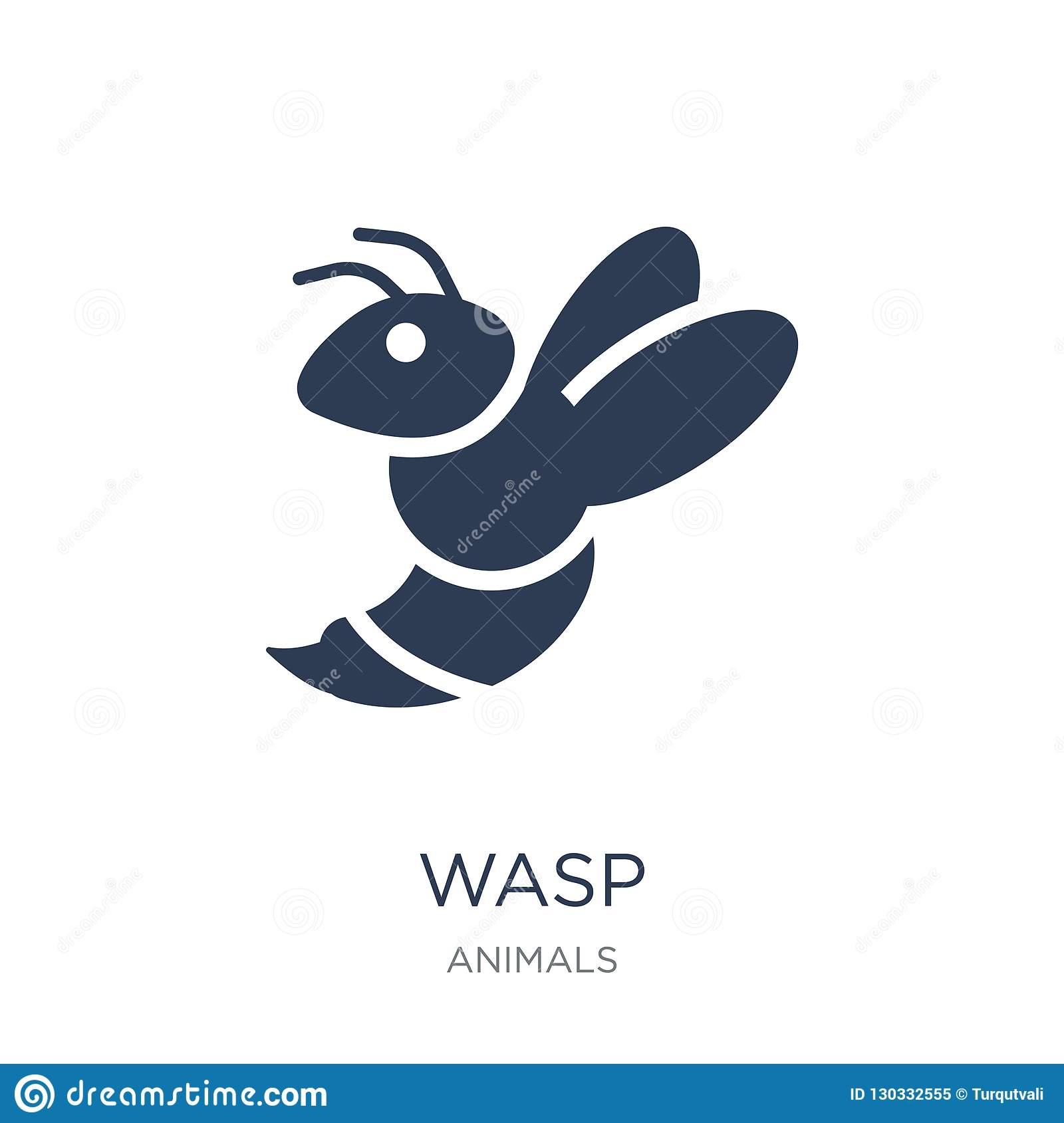 Wasp icon. Trendy flat vector Wasp icon on white background from