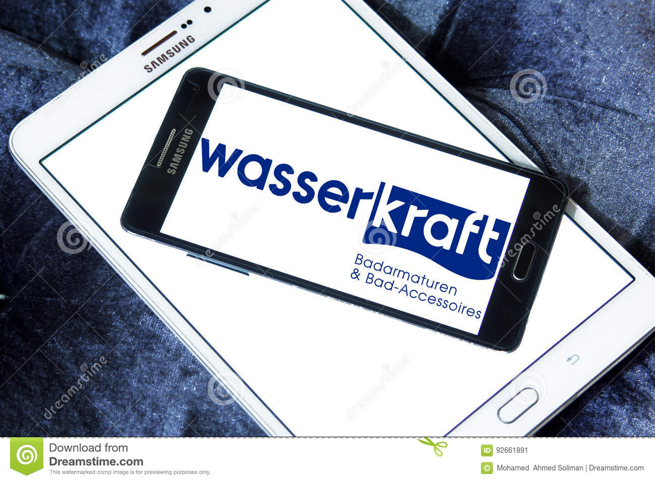 Wasser kraft company logo editorial photo. Image of business - 92661891