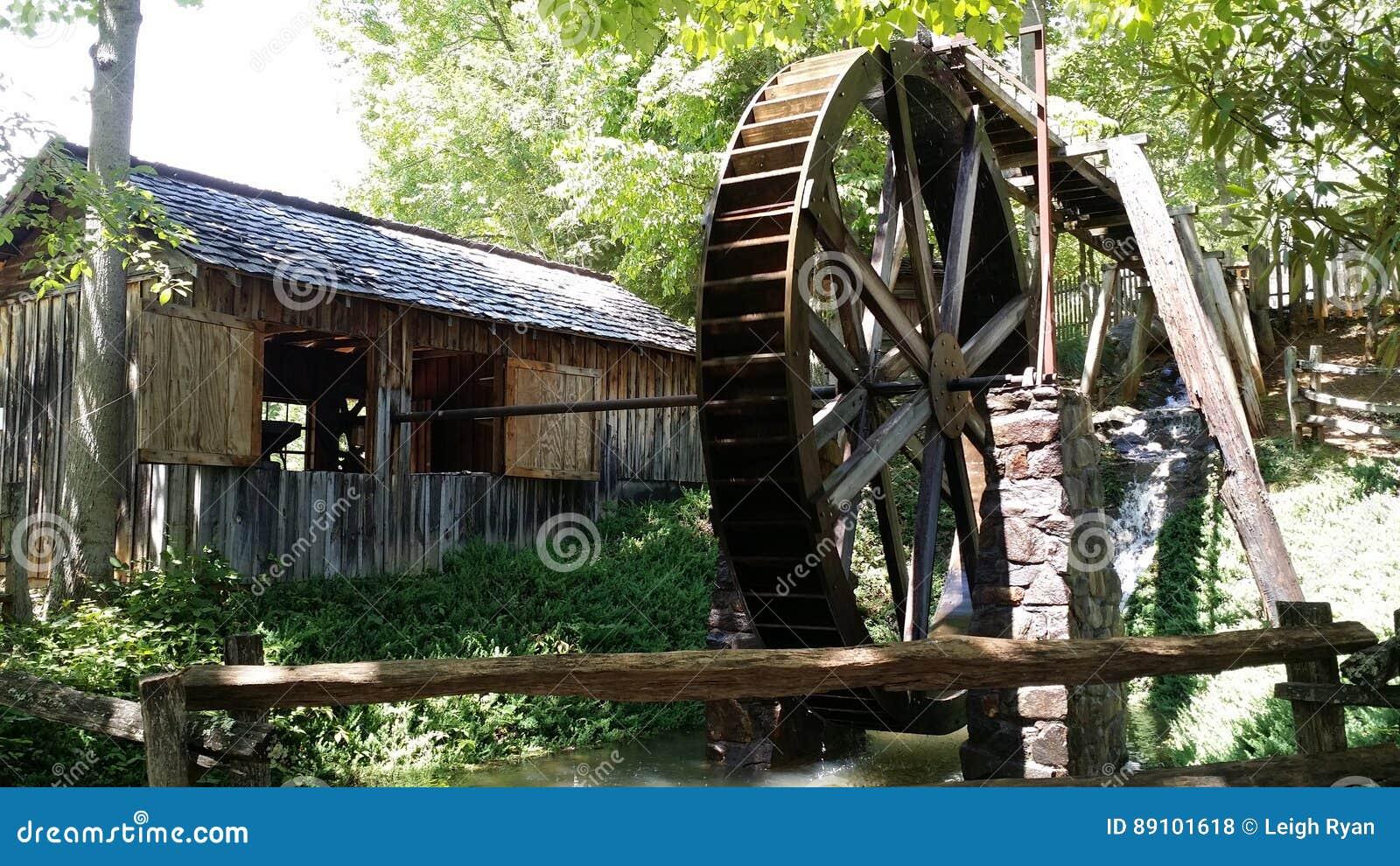 Wasser-Mühle bei Georgia Mountain Fairgrounds in Hiawasse Georgia