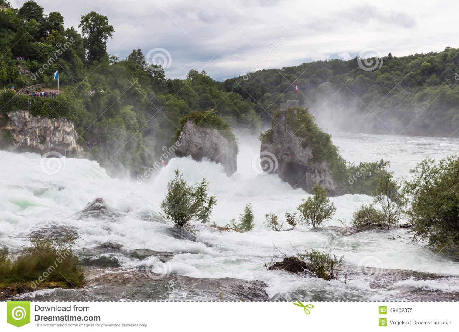 Download Wasserfall auf dem Rhein stockbild. Bild von landschaft - 49402375