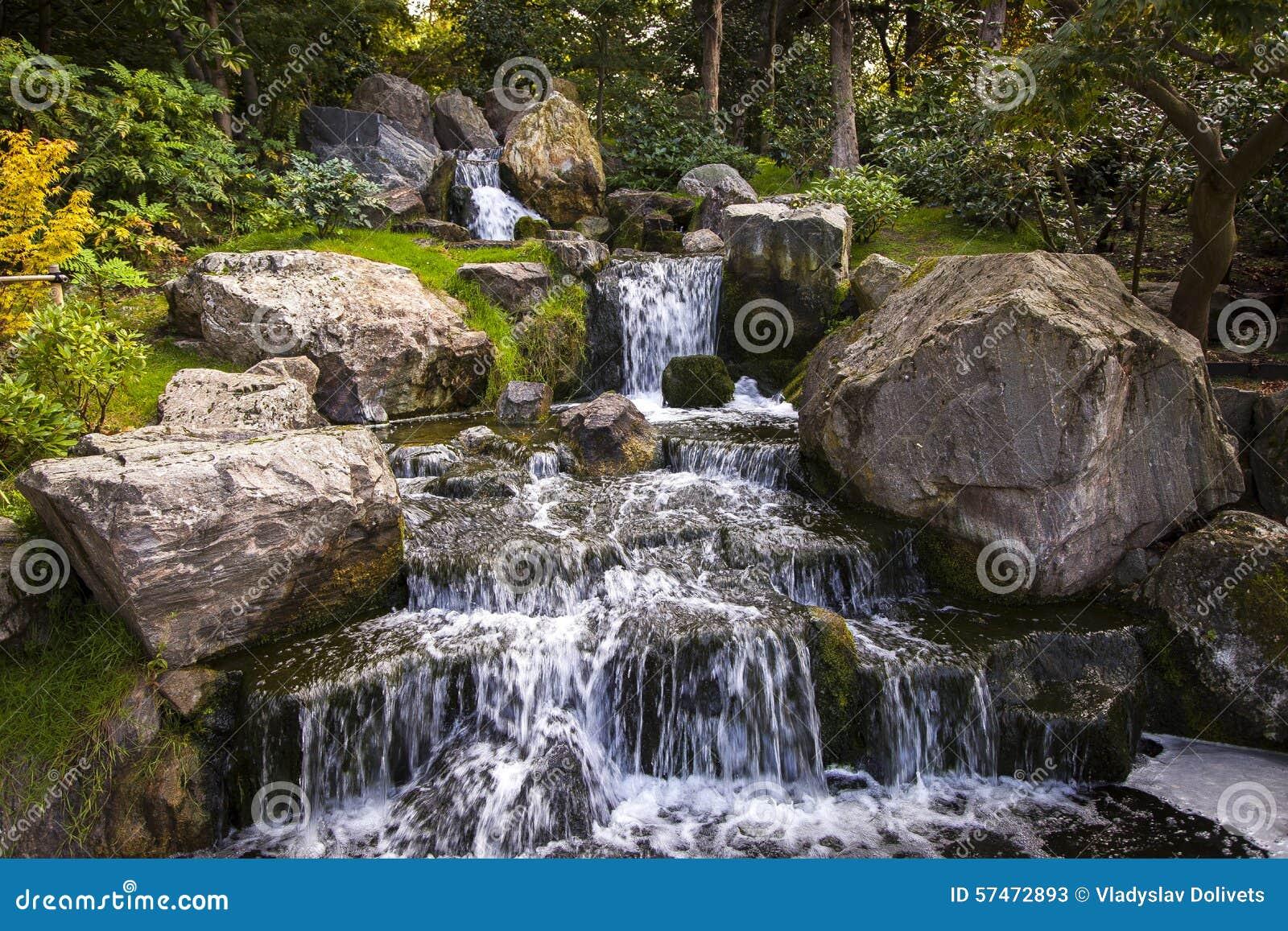 Wasserfall im japanischen garten london stockfoto bild 57472893 - Cascade de jardin castorama lyon ...