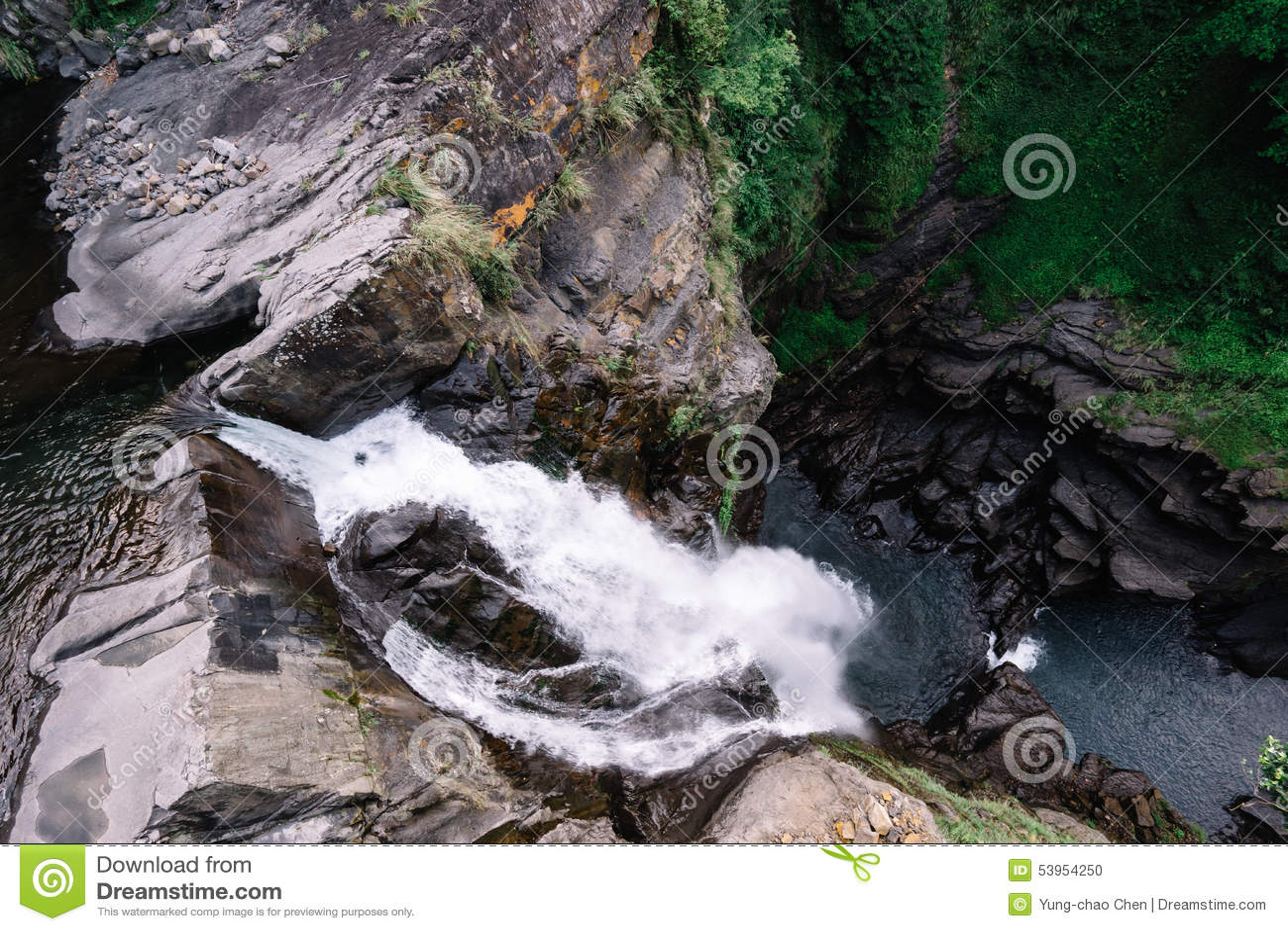 Wasserfall im Wulai Bezirk, Taiwan
