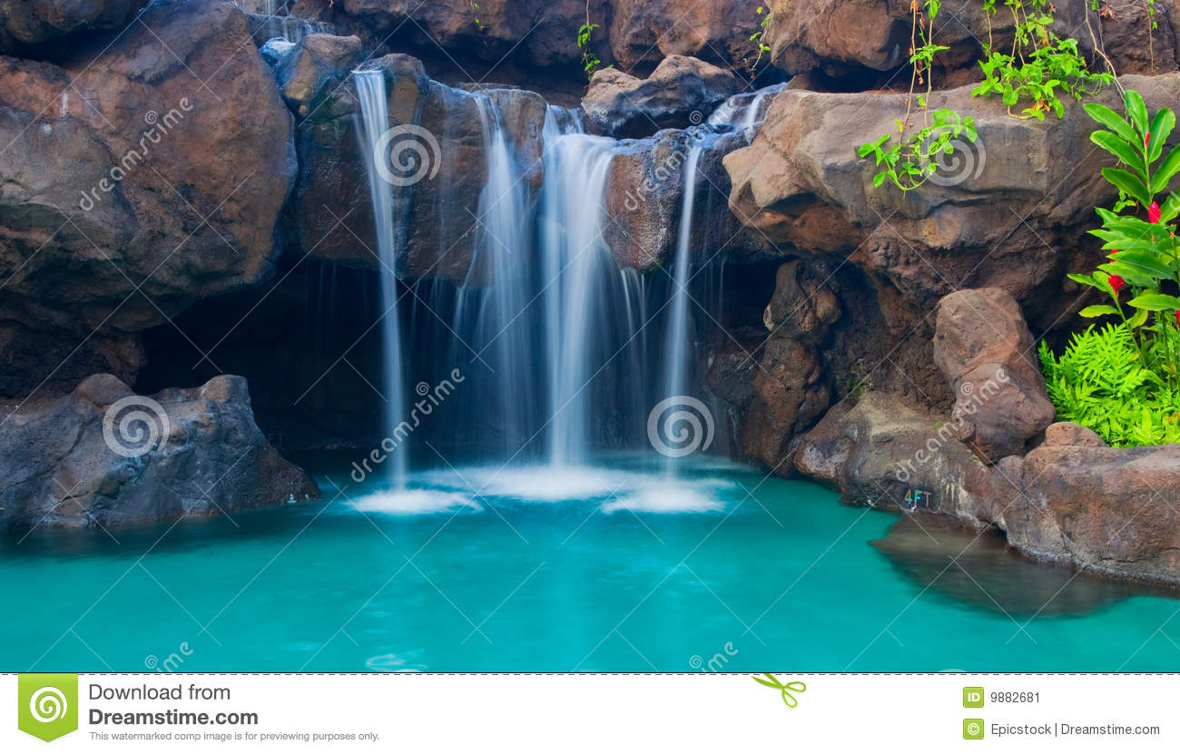 Good Royalty Free. Download Wasserfall In Pool ...