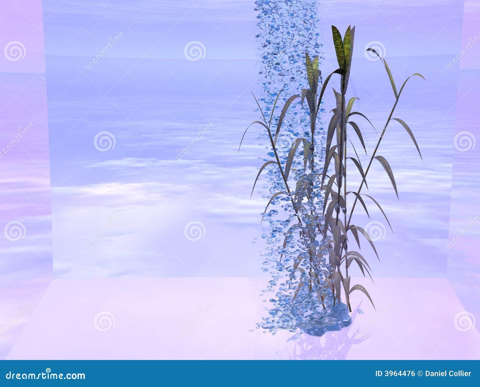 Wasserfall Und Bambus Stock Abbildung Illustration Von Nass 3964476