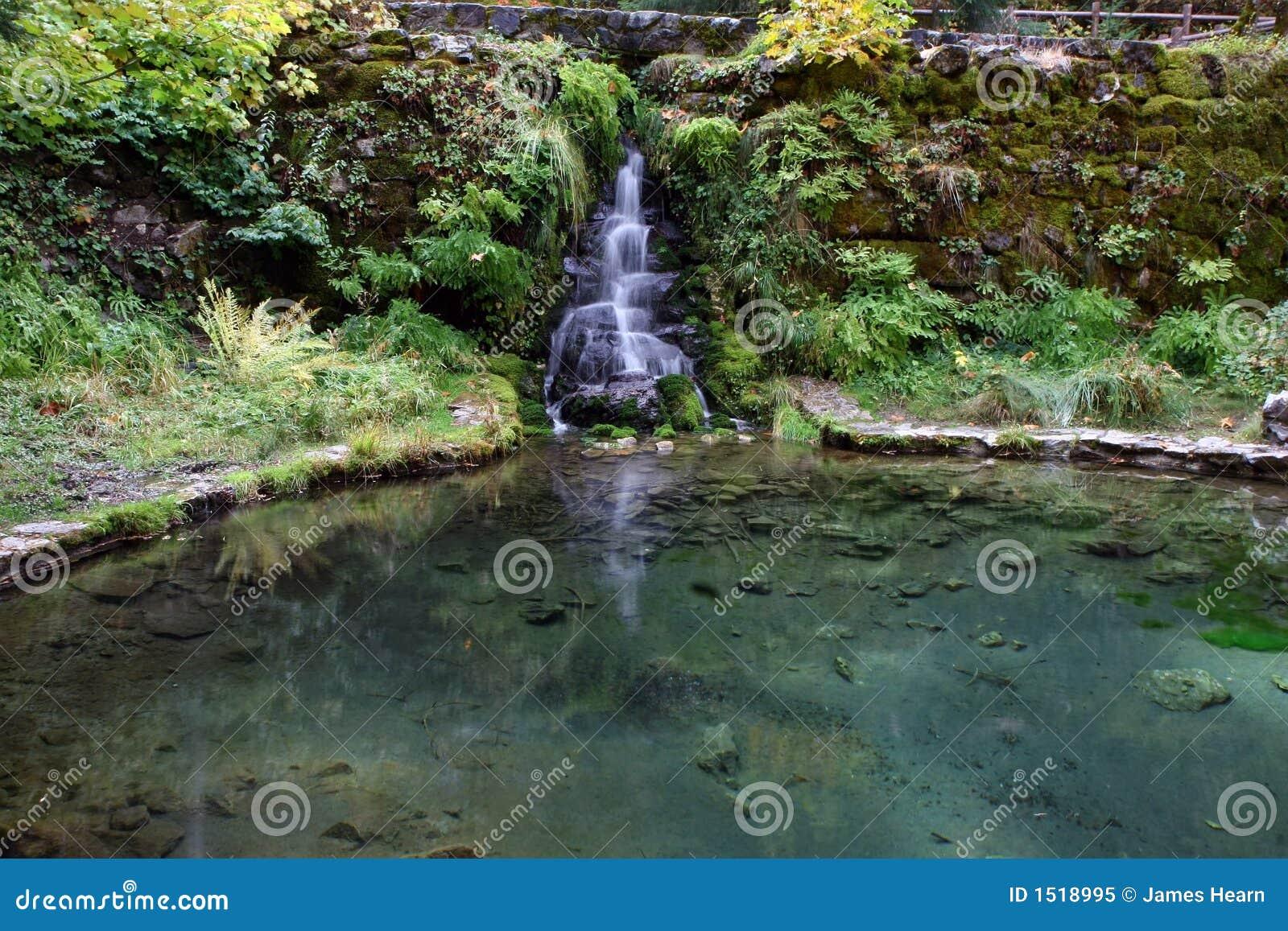 Wasserfall und teich lizenzfreies stockfoto bild 1518995 for Wasserfall teich