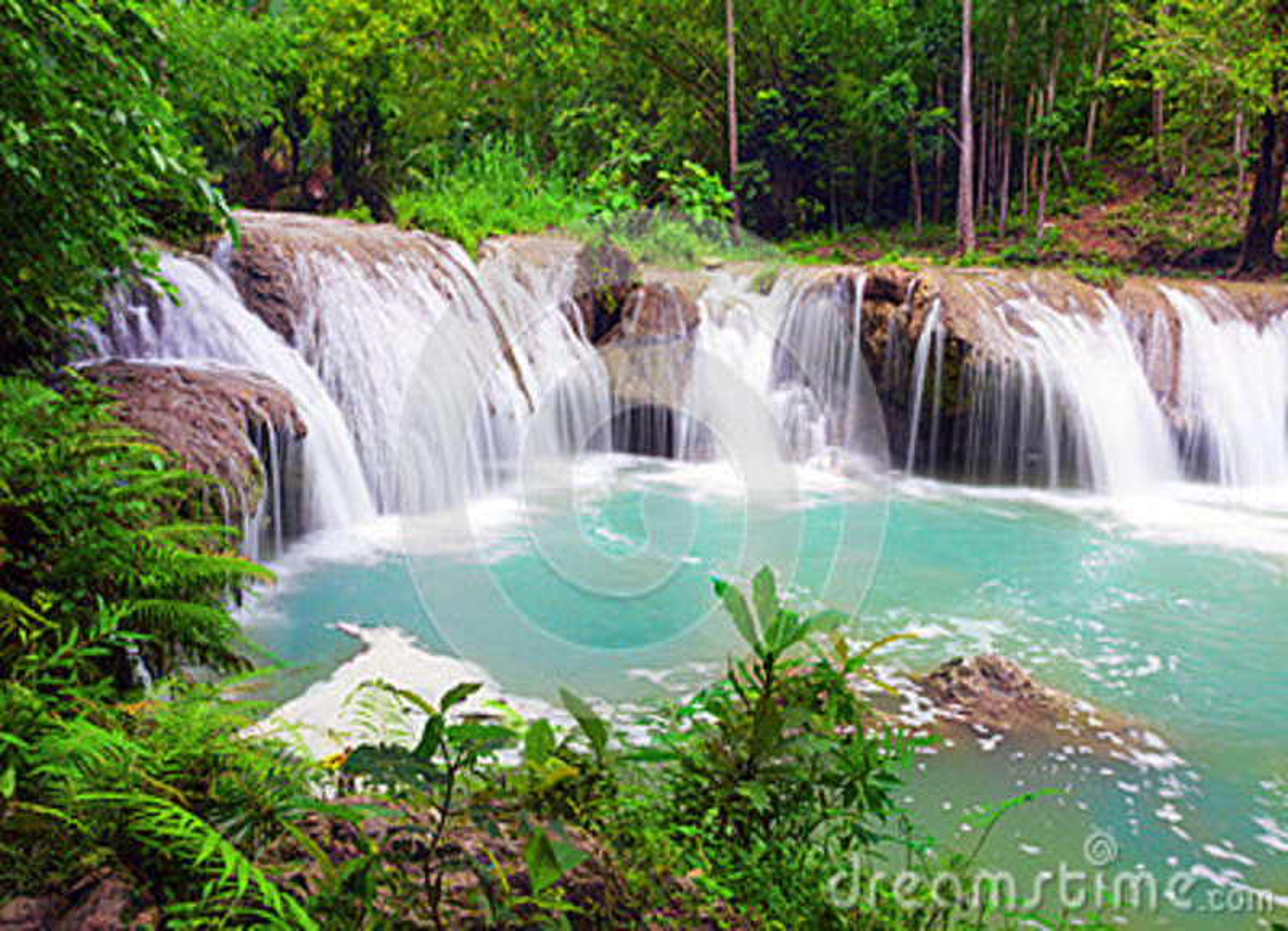Wasserfall von Insel von Siquijor philippinen
