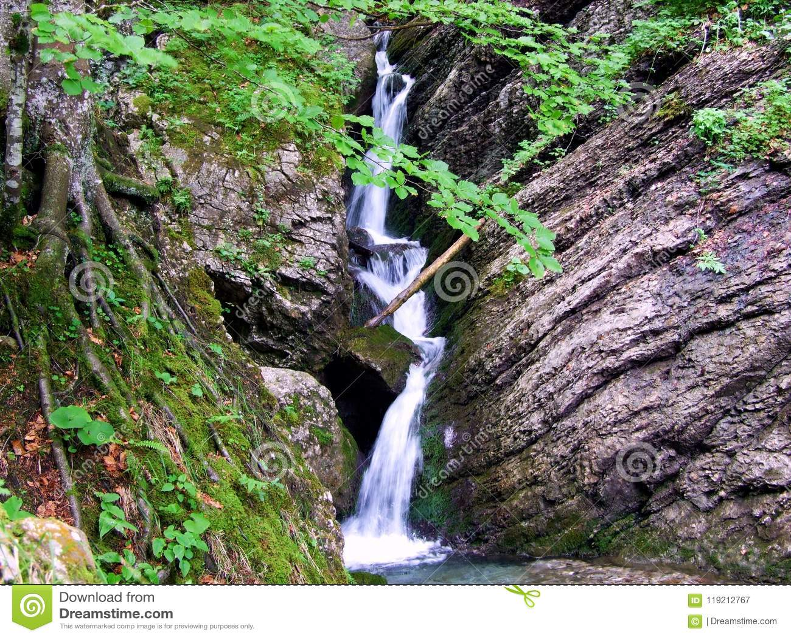 Wasserfall, Wasser, Natur, Fluss, Strom, Kaskade, Wald, Landschaft, Grün, Felsen, Berg, Stein, Nebenfluss, Fälle, Frühling, Moos,