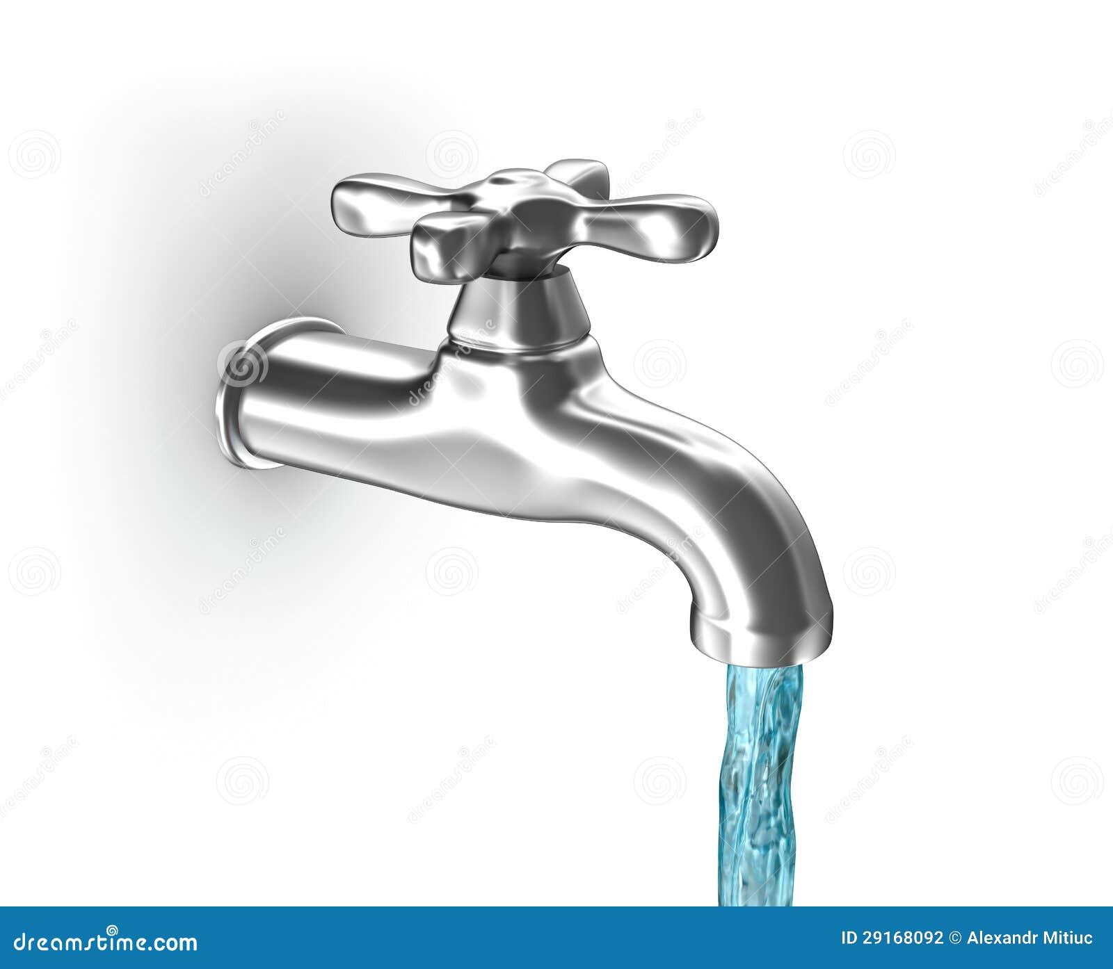 Wasserhahn Mit Fließendem Wasser Stockfotografie - Bild ...