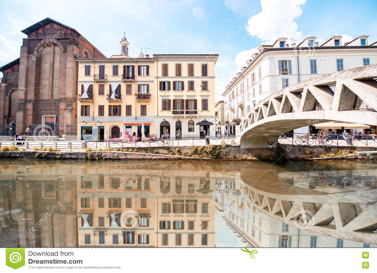 Wasserkanal in Mailand