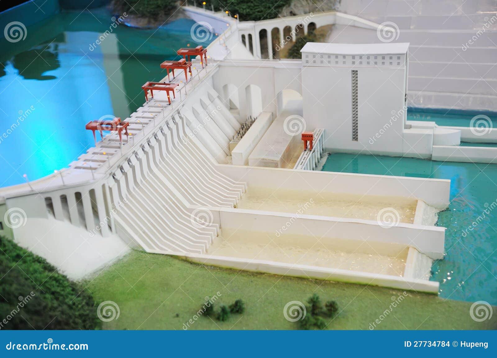 Wasserkraft-Stationbaumuster