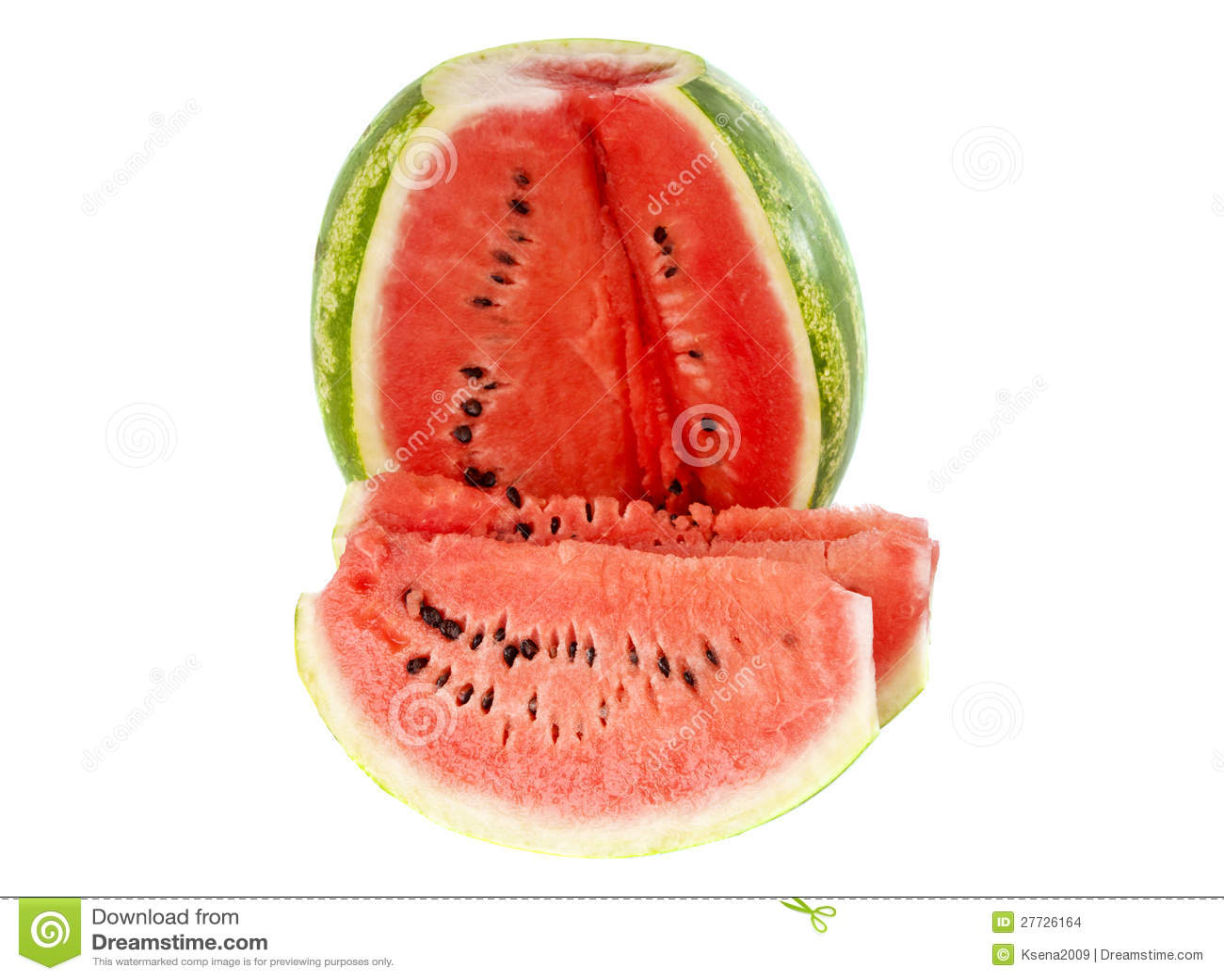 Wassermelone getrennt