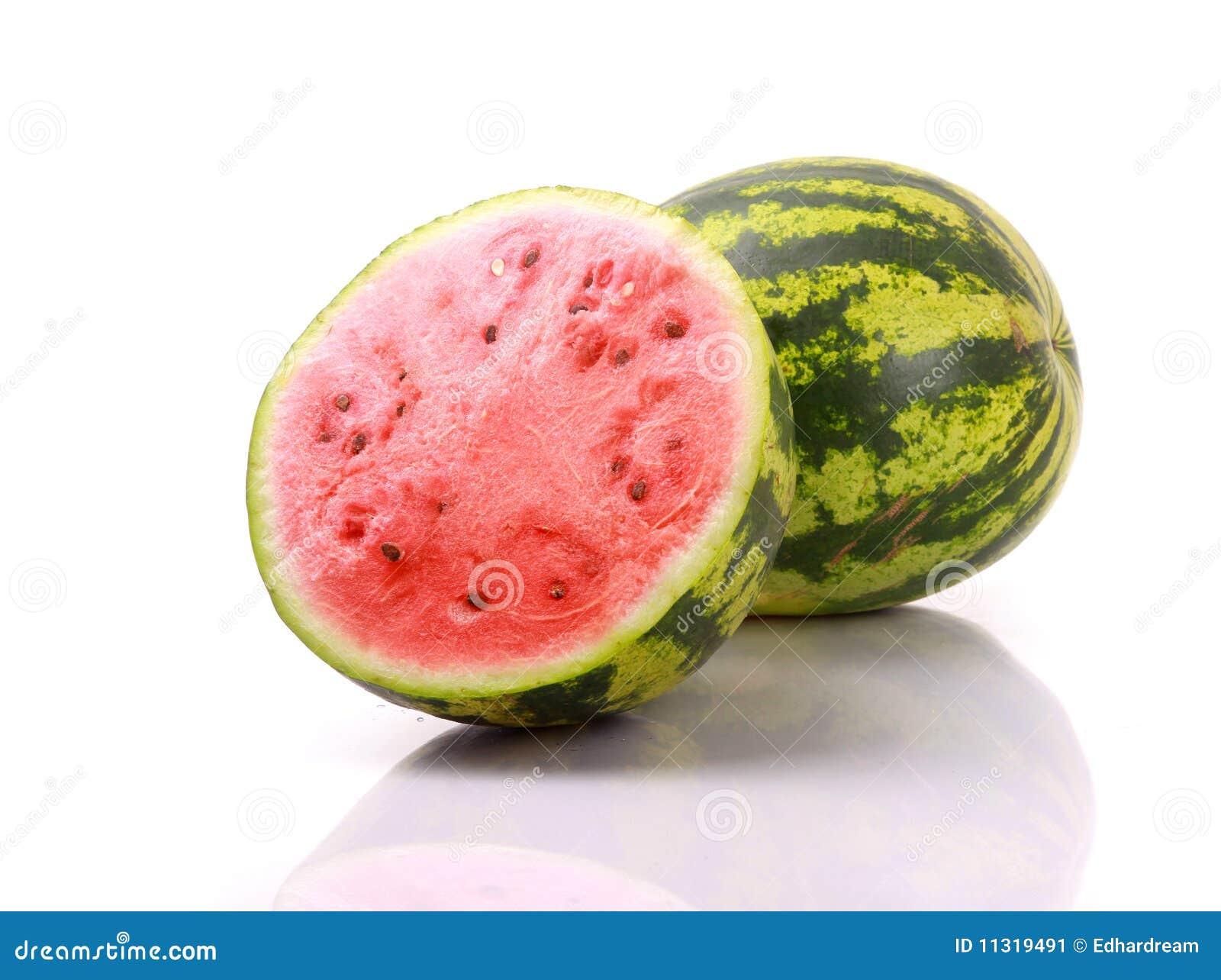 Wassermelonen getrennt auf Weiß