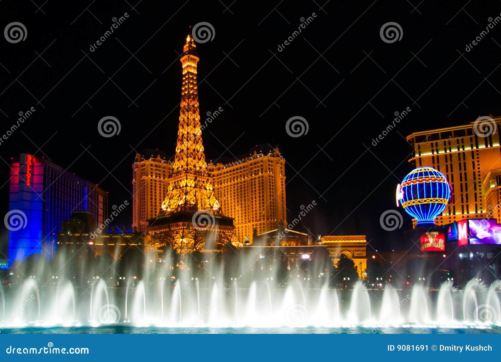 Wassernachterscheinen von Vegas