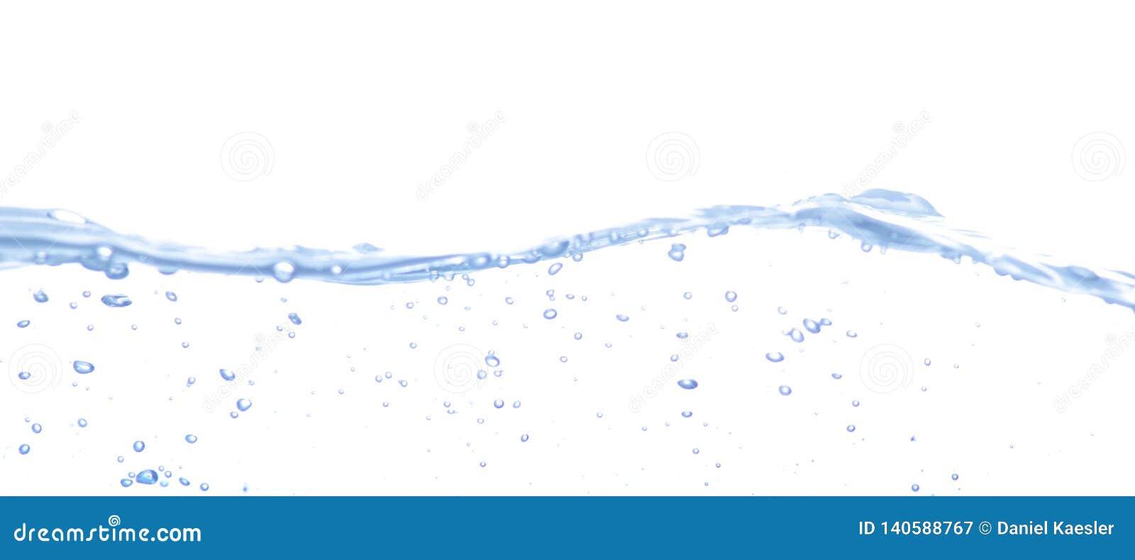 Wasserspritzen getrennt