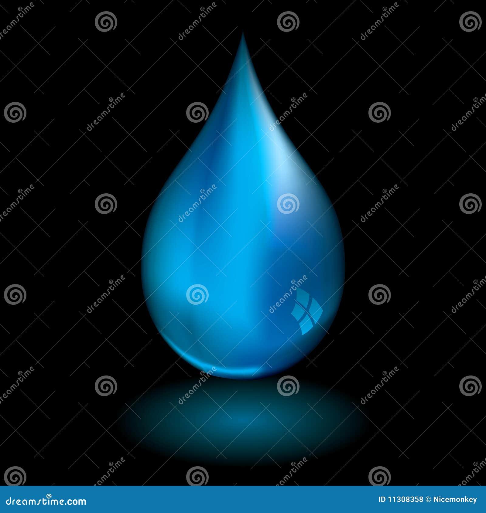 Wassertröpfchenschwarzes