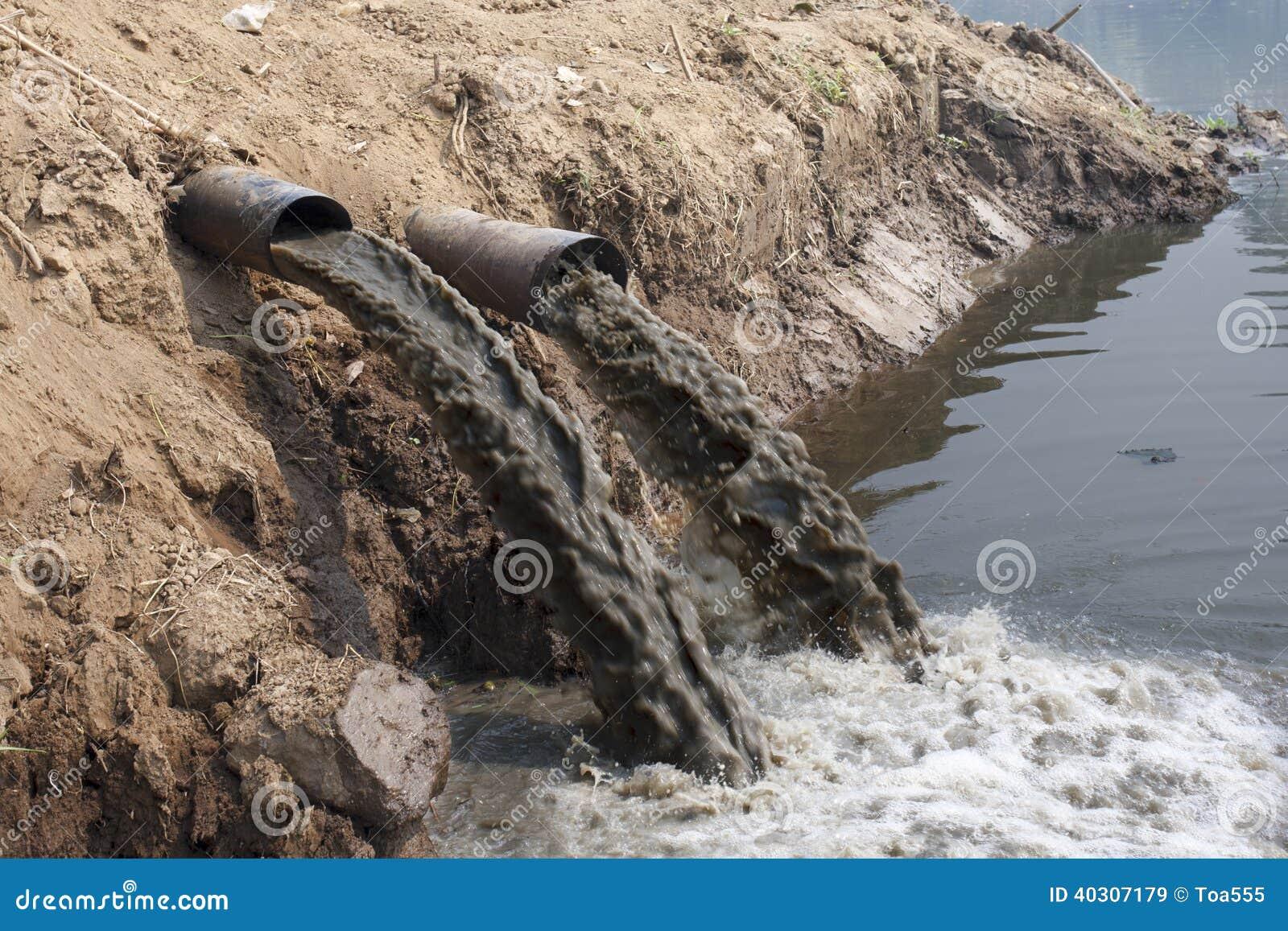 Wasserverschmutzung im Fluss