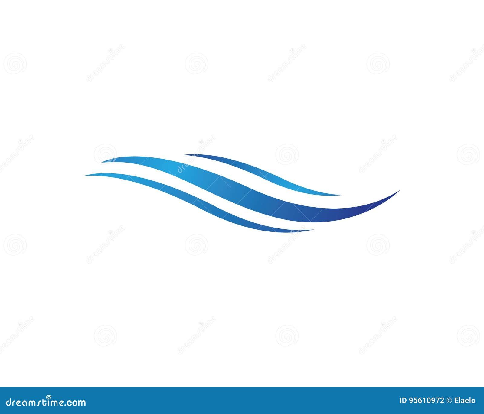 Wasserwelle Logo Template vektor abbildung. Illustration von ...