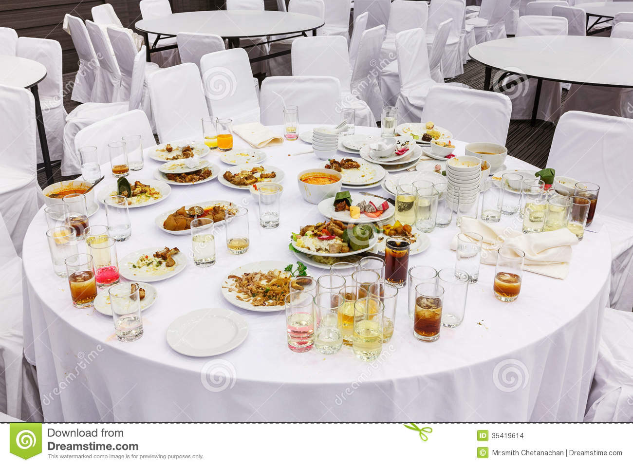 Waste food after dinner stock photo image of dragon for Table a diner