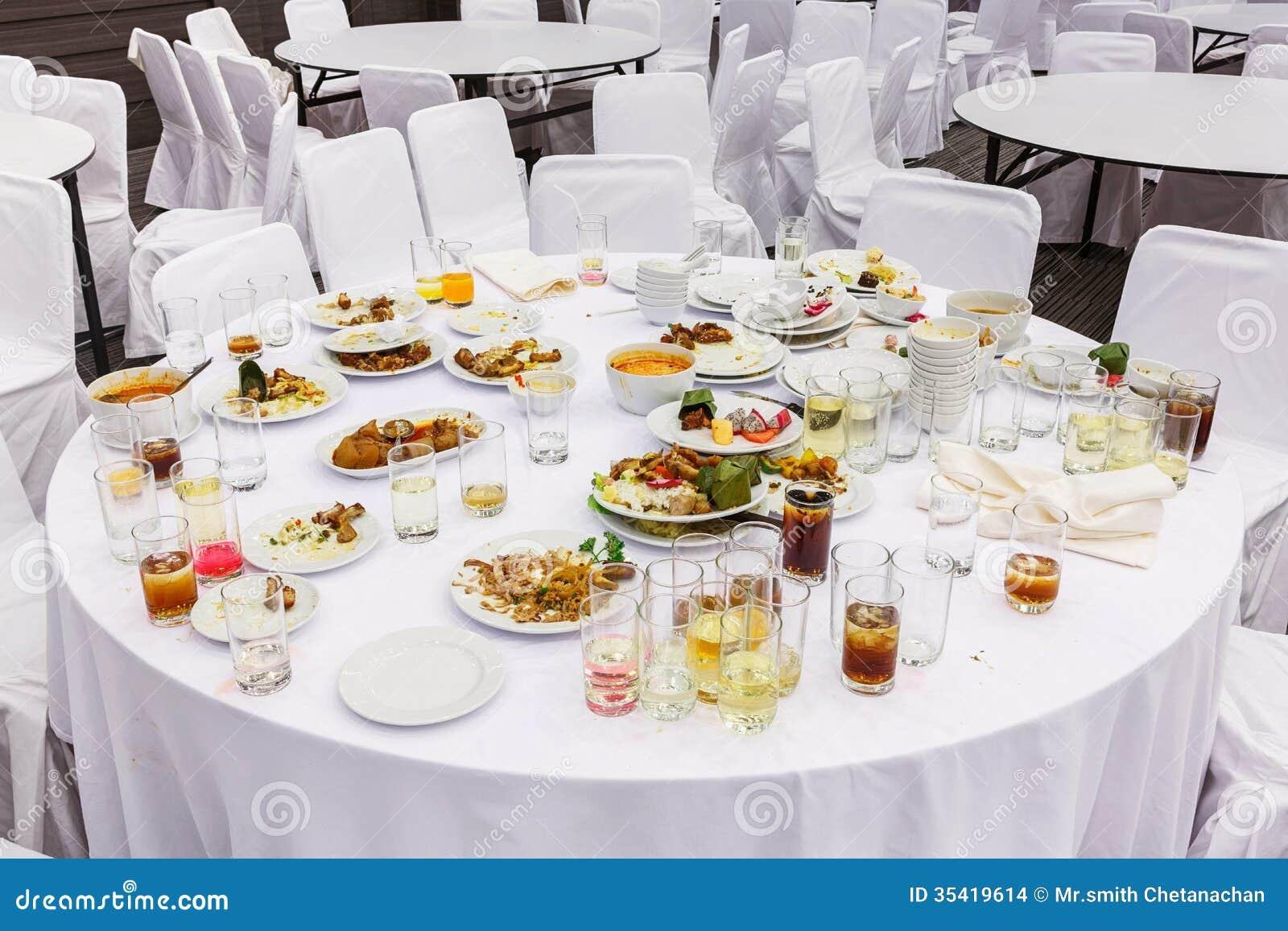 Waste food after dinner stock images image 35419614