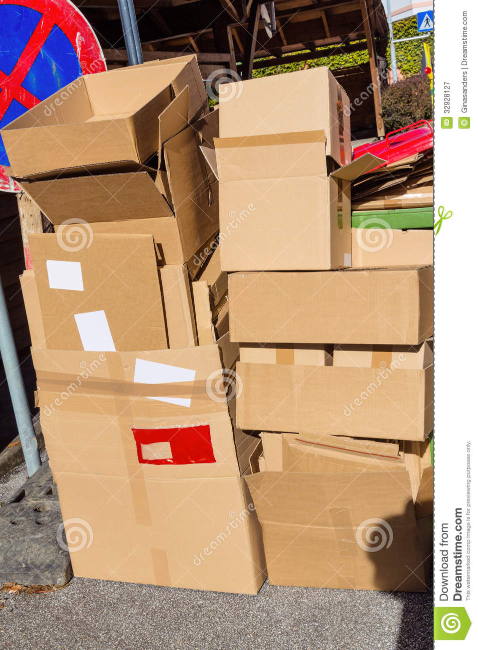 Waste Paper From Cardboard Boxes Stock Image Image 32928127