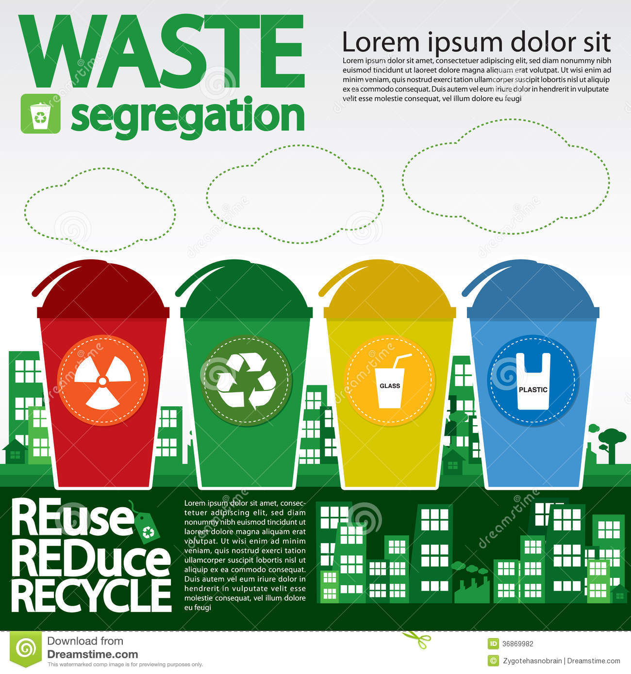 garbage segregation Segregation at source is mandatory avoid usage of disposables, use reusables no littering in public places companies/hotels/institutions are responsible for their waste vendors.