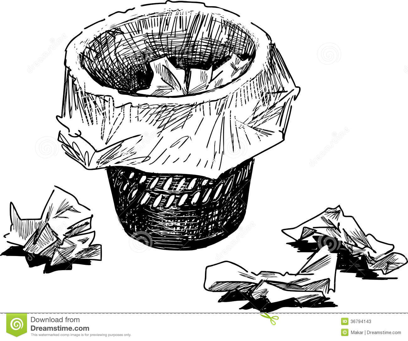 Wastebasket stock photos image 36794143 for Art from waste paper