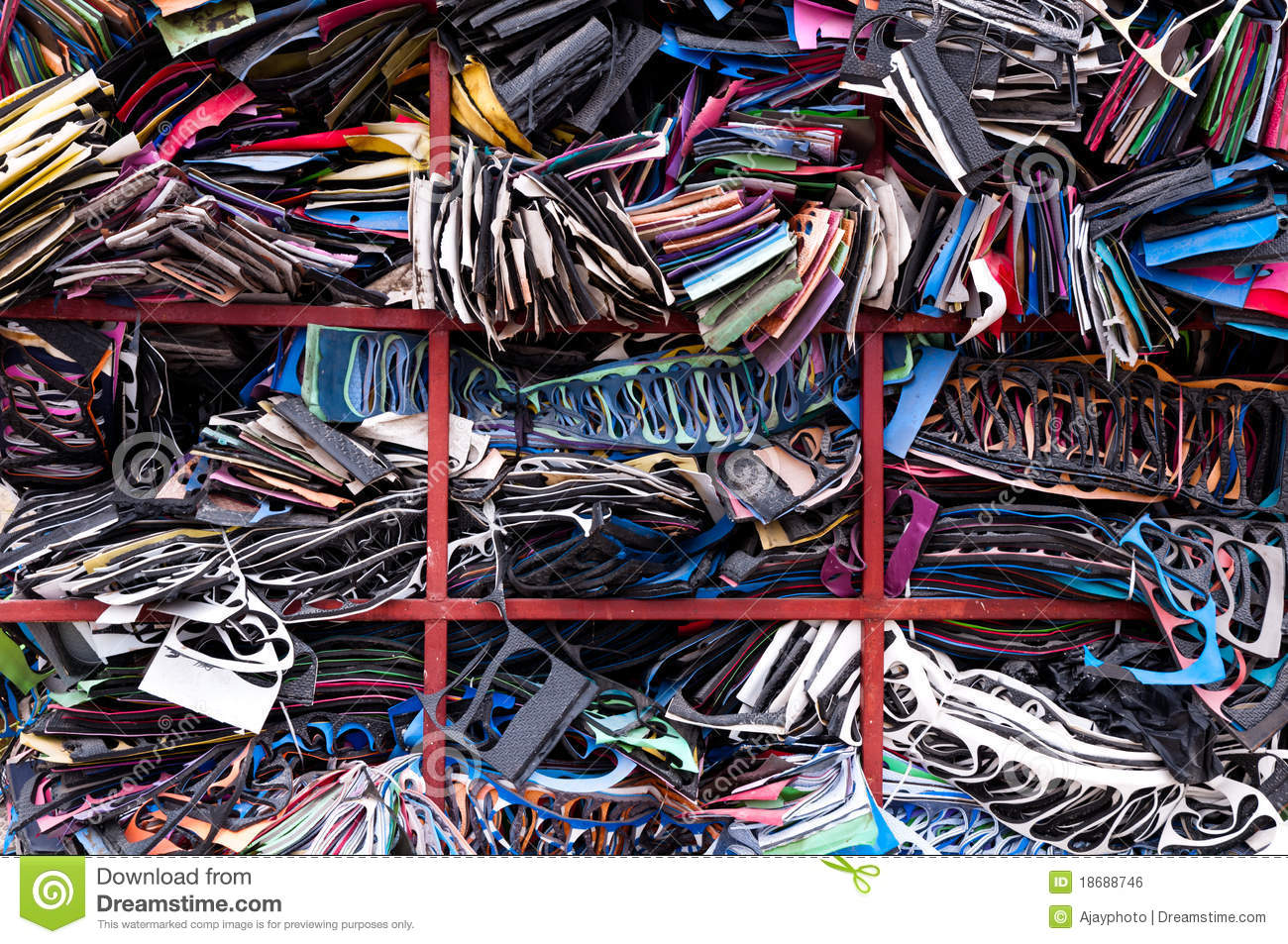 Wasted Rubber Sheet From Shoe Industry Royalty Free Stock