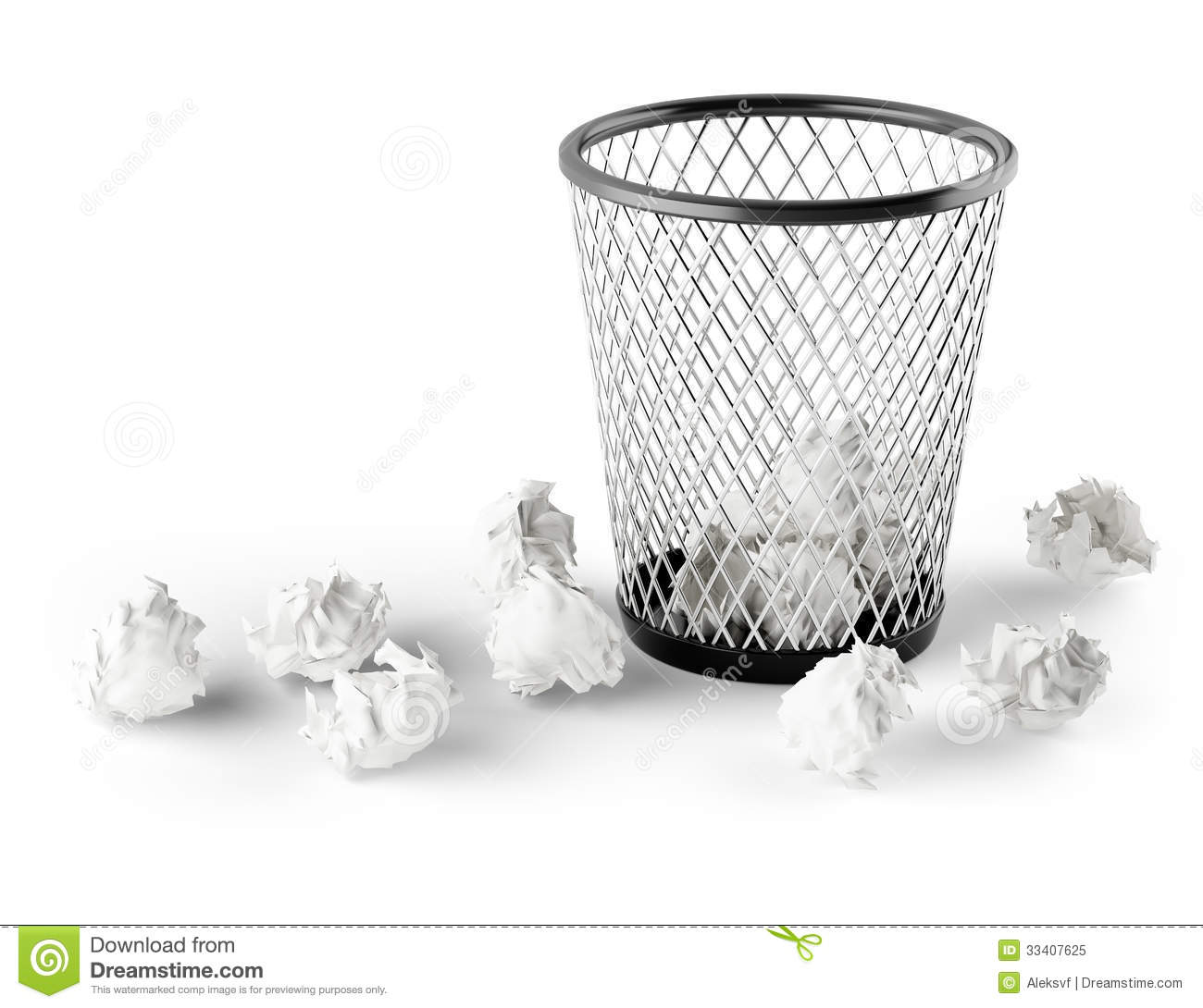 Waste Paper Basket Wastepaper Basket Royalty Free Stock Photo  Image 33407625