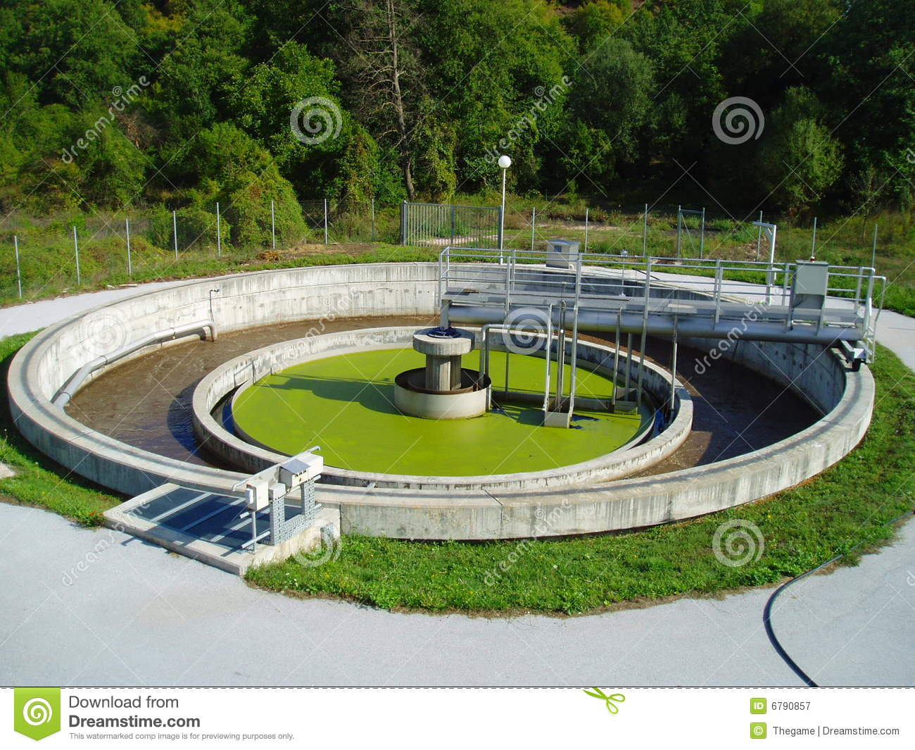 Royalty Free Stock Photography Wastewater Treatment Plant Image 6790857