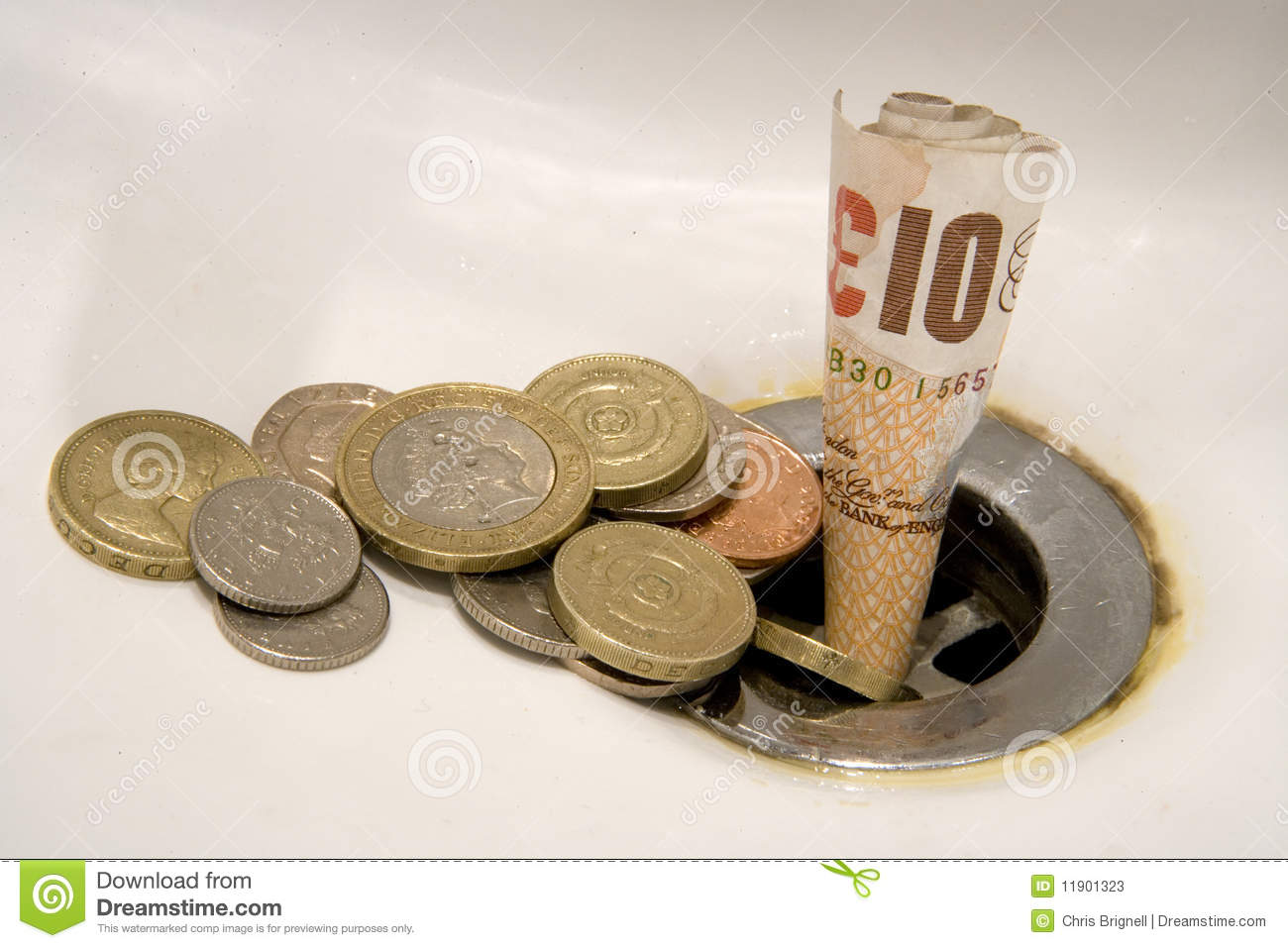 Wasting Money Concept Stock Photos Image 11901323