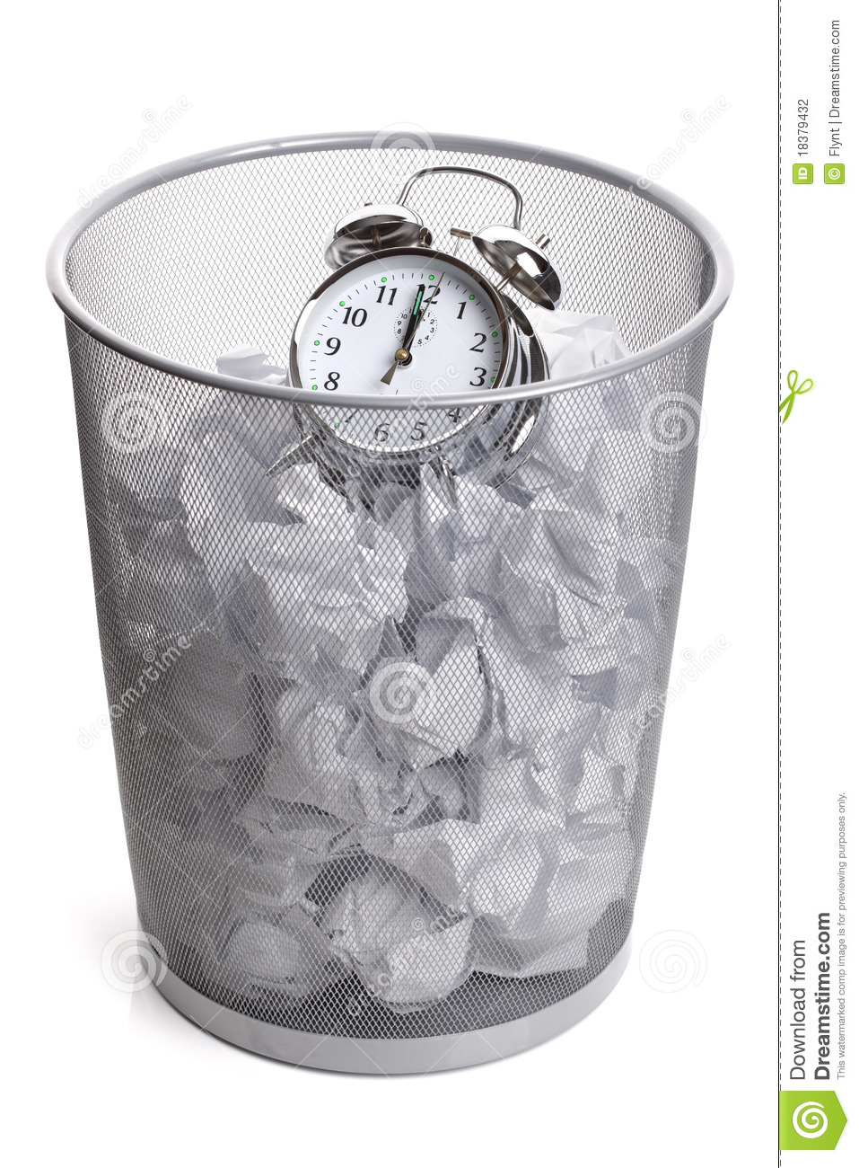wasting time stock photography