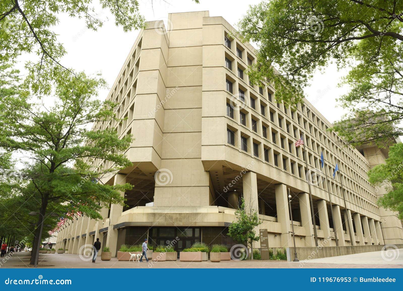 Waszyngton, DC - Czerwiec 02, 2018: FBI, Federacyjny biuro Investig