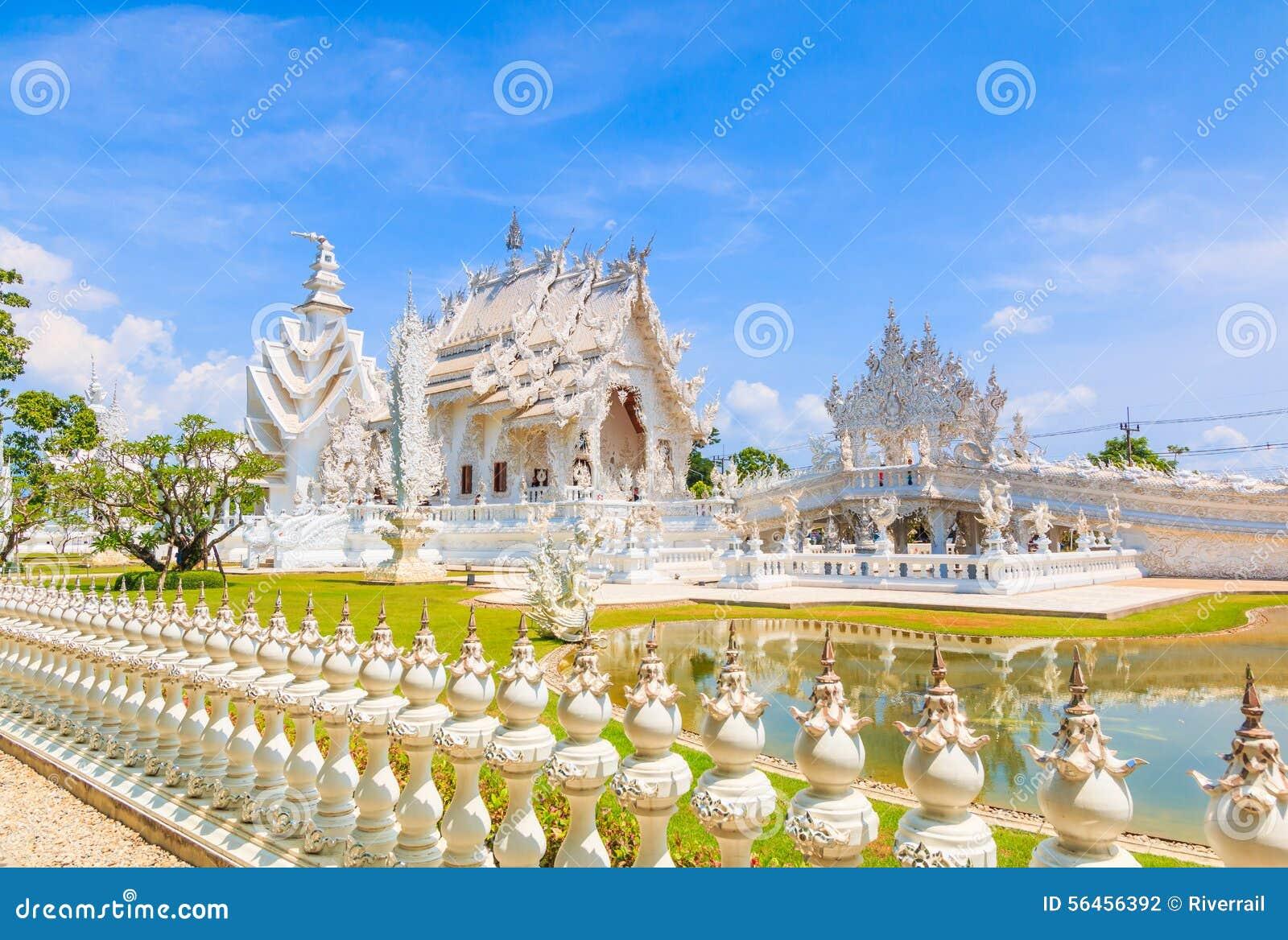 Wat在Chiangrai省,泰国的Rong Khun