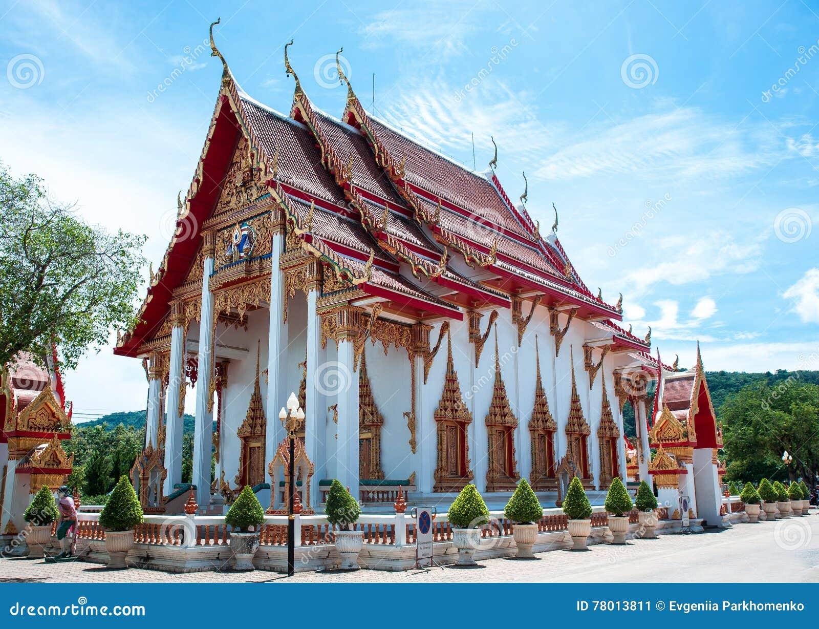 Wat查龙寺庙复合体在普吉岛,泰国