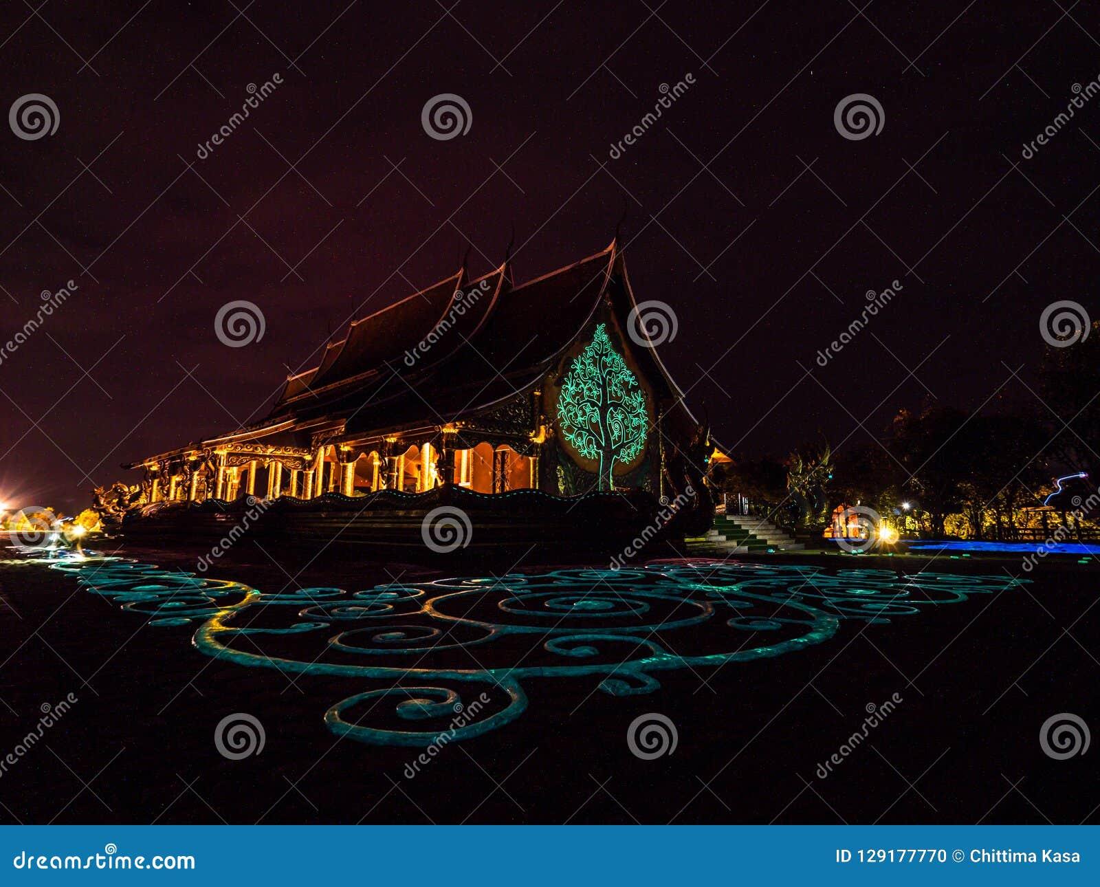 Wat诗琳通Wararam, Ubonratchathani,泰国