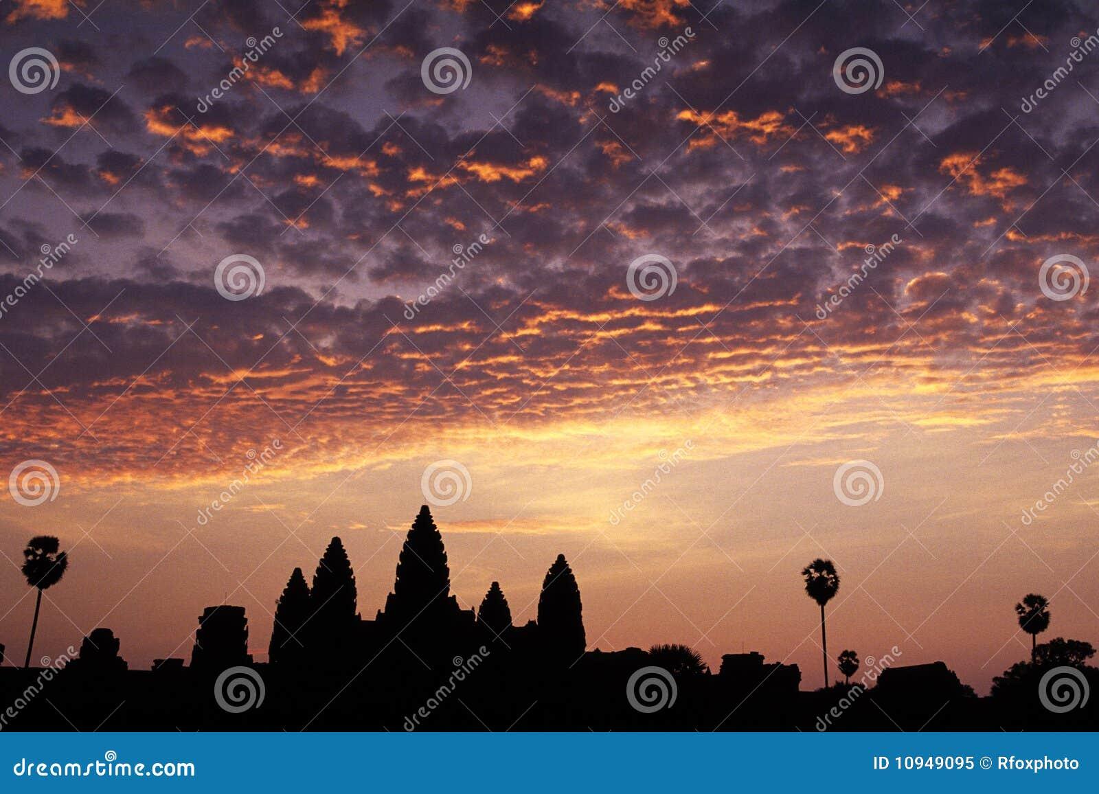 Wat восхода солнца Камбоджи angkor