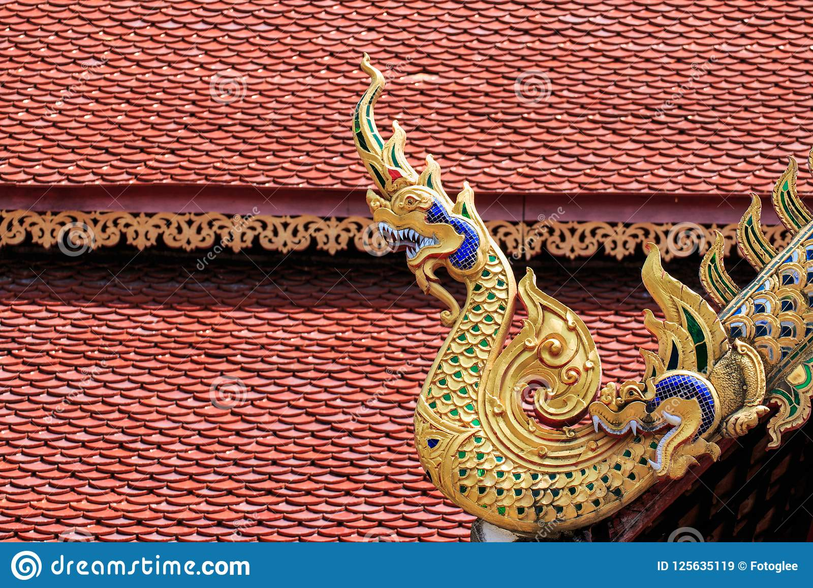Wat Chai Mongkon - buddistisk tempel, Chiang Mai Thailand