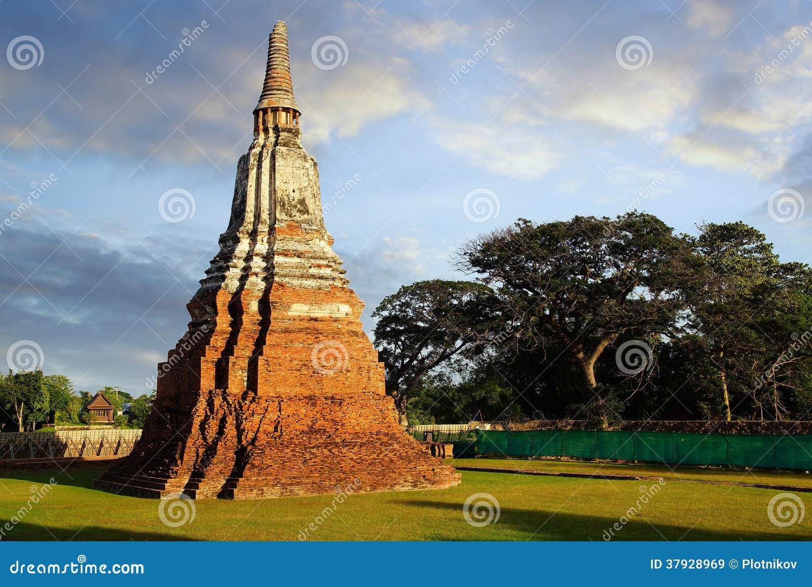 Wat Chai Watthanaram tempel. Ayutthaya